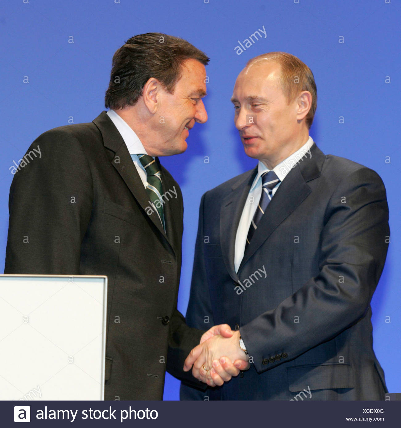 G Schroeder V Putin Stock Photo 283047536 Alamy