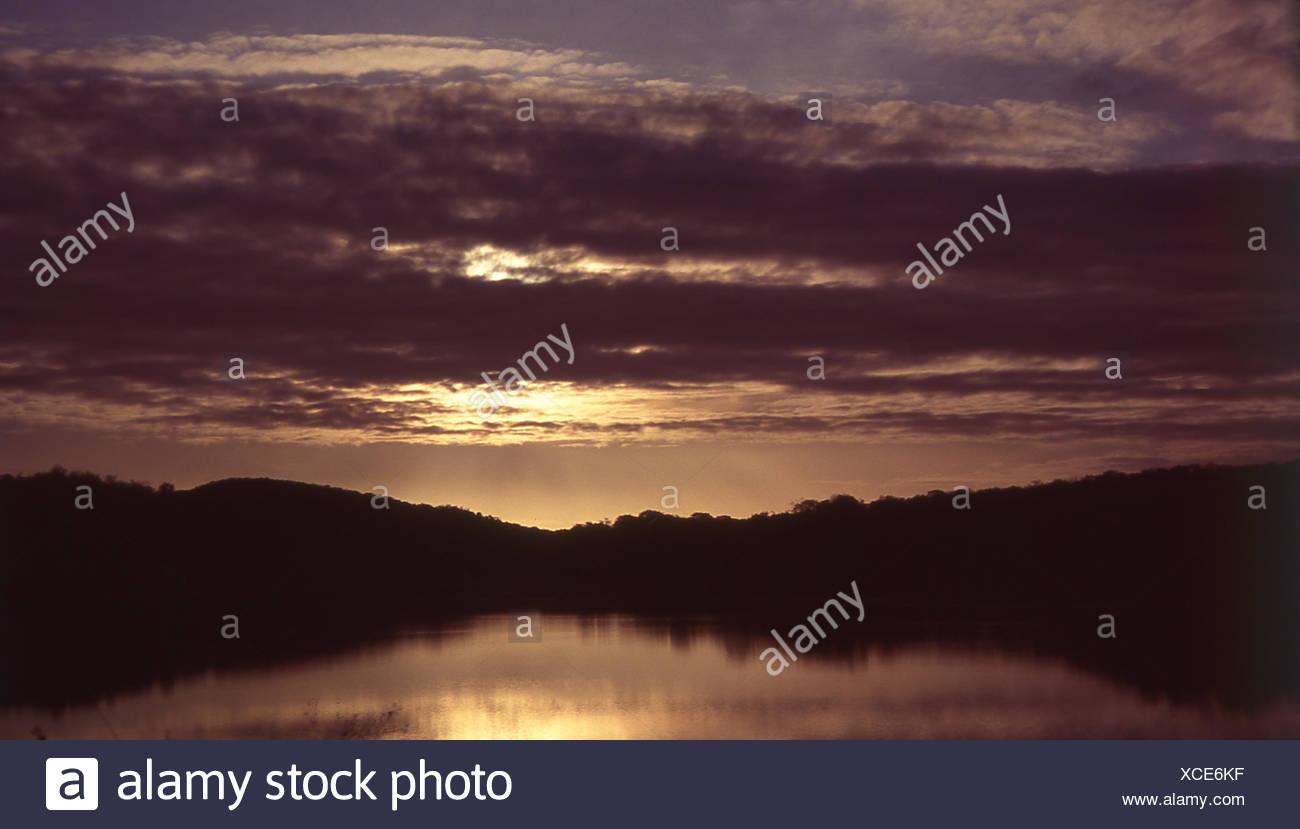 Sunset, Ceará, Brazil Stock Photo