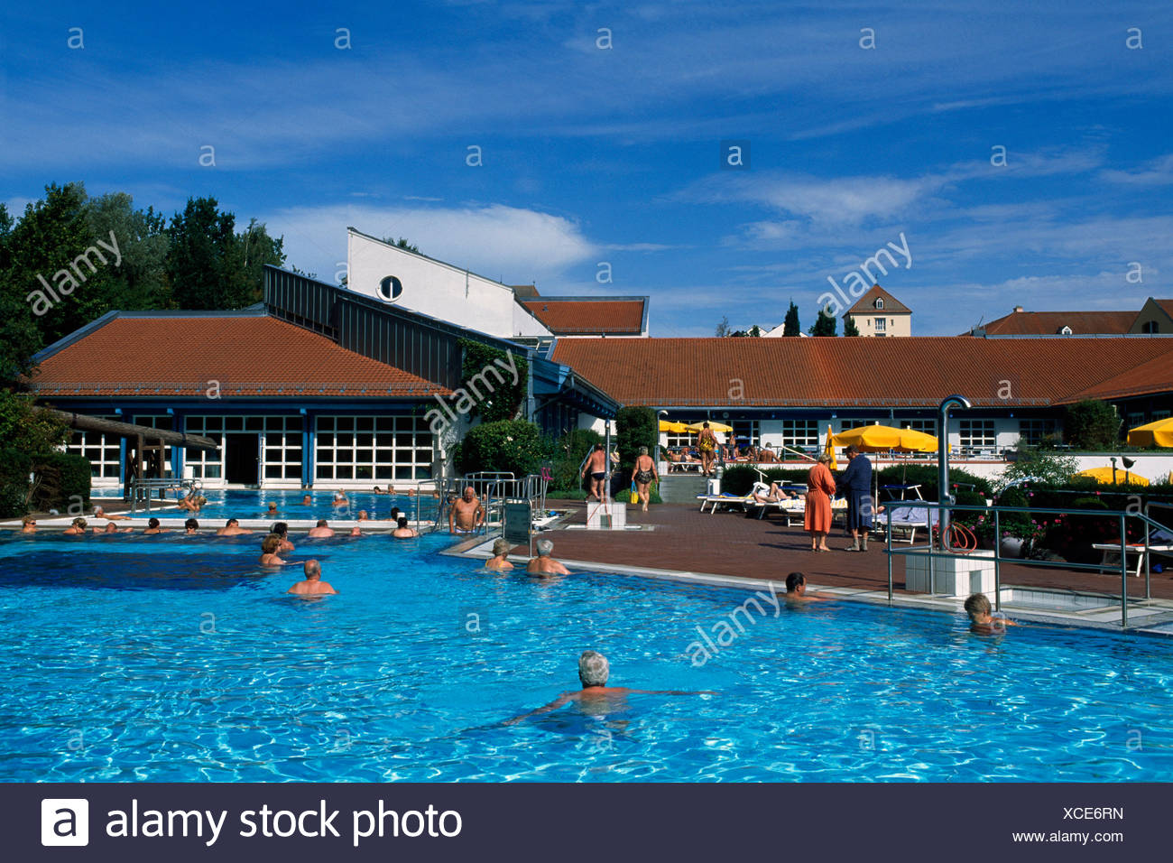 Thermal pool, Wohlfuehltherme, Feel Good thermae, Bad Griesbach, Lower Bavaria, Germany, Europe - Stock Image