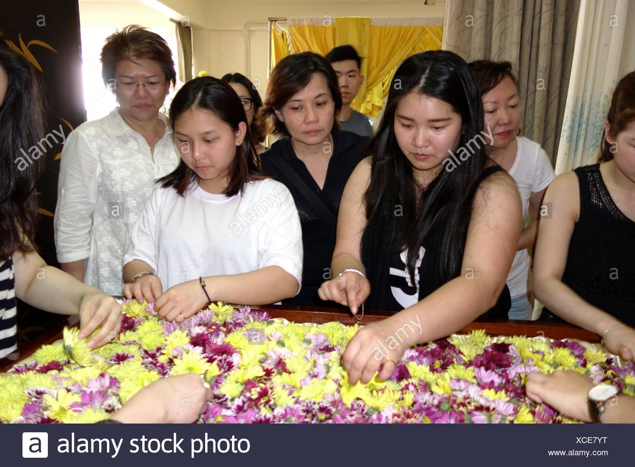Funeral Coffin Carrying Flowers Stock Photos Funeral Coffin