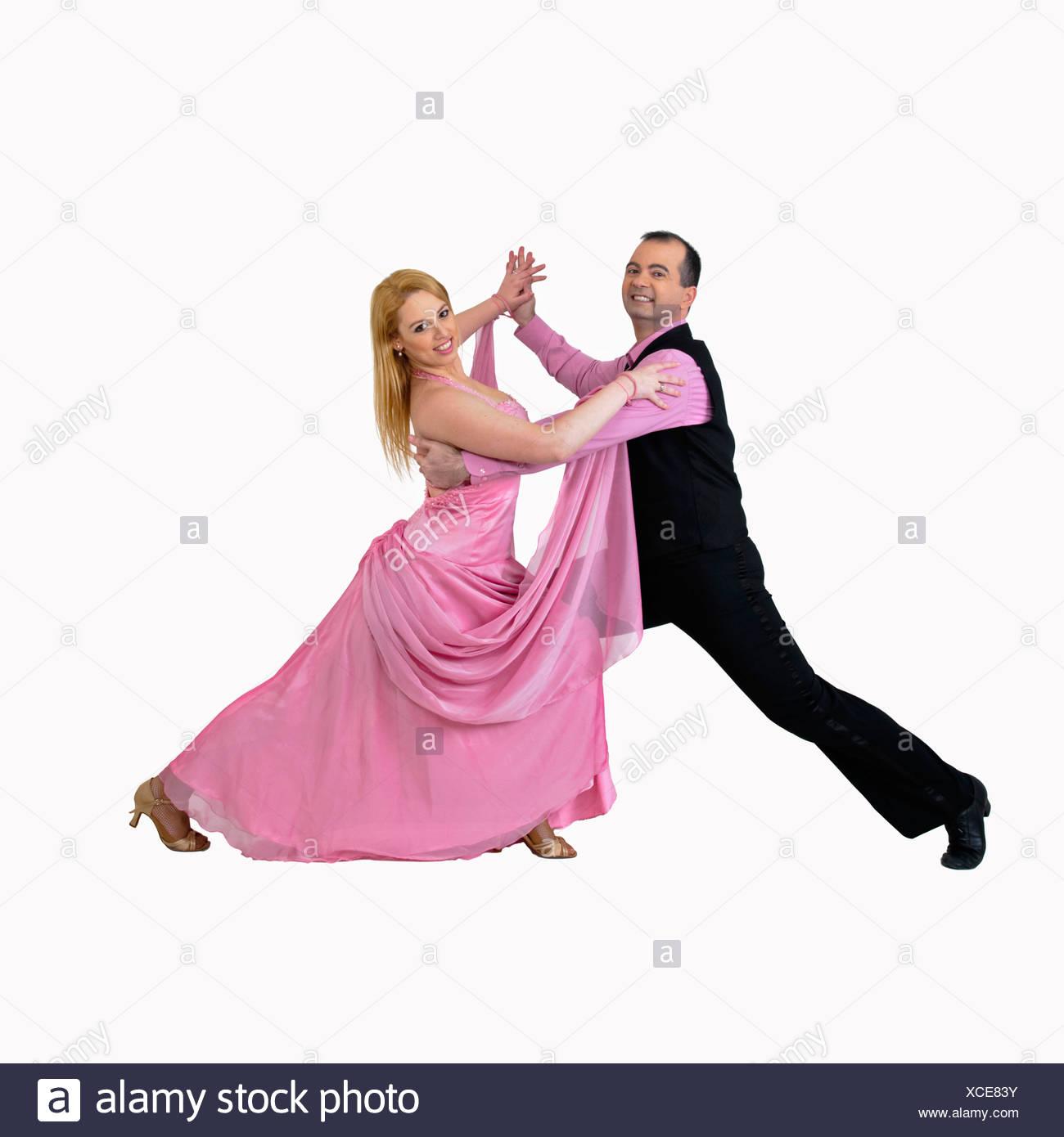 Ballroom dancers posing together - Stock Image