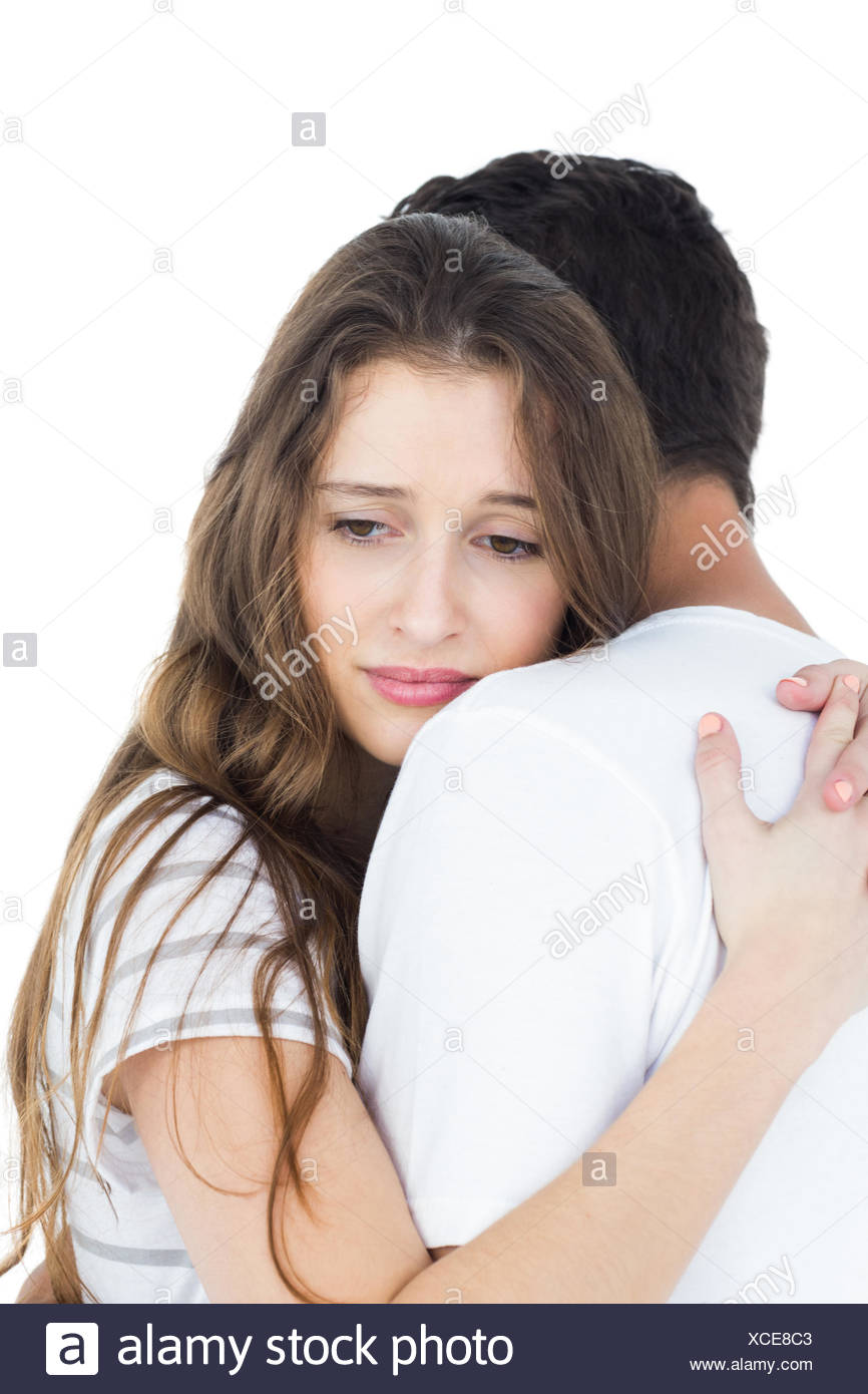 Couple Hugging Sad High Resolution Stock Photography And Images Alamy