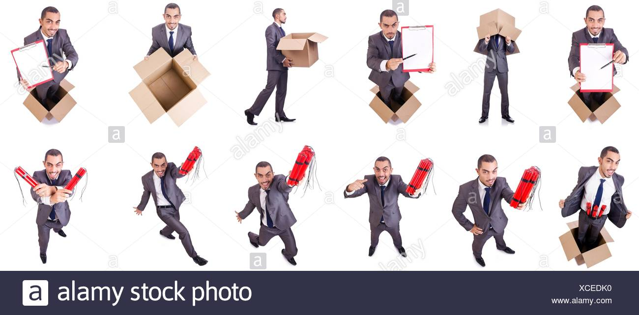 Fuse Boxes Cut Out Stock Images Pictures Alamy Box Cartoon Businessman Standing In The Isolated On White Image