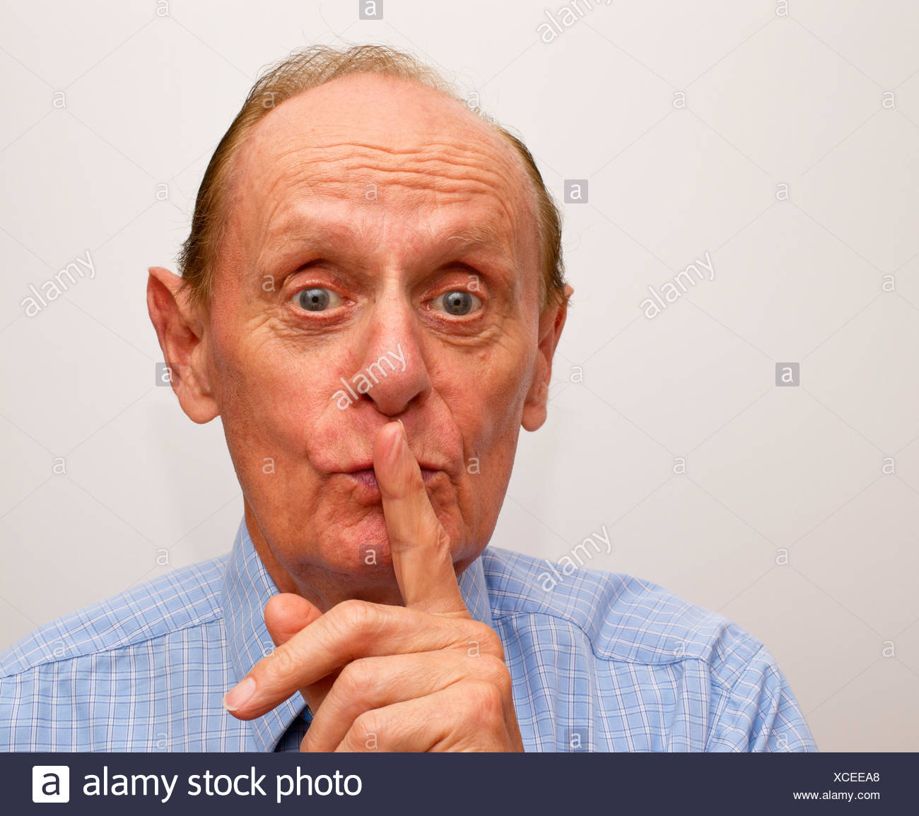 Silence please ! - Stock Image