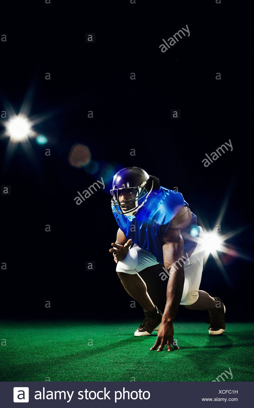 American football player - Stock Image
