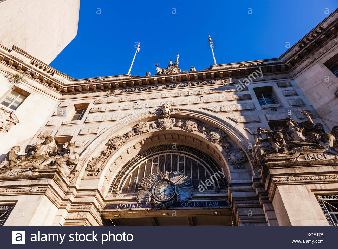 England, London, Waterloo Station, Main Entrance - Stock Image