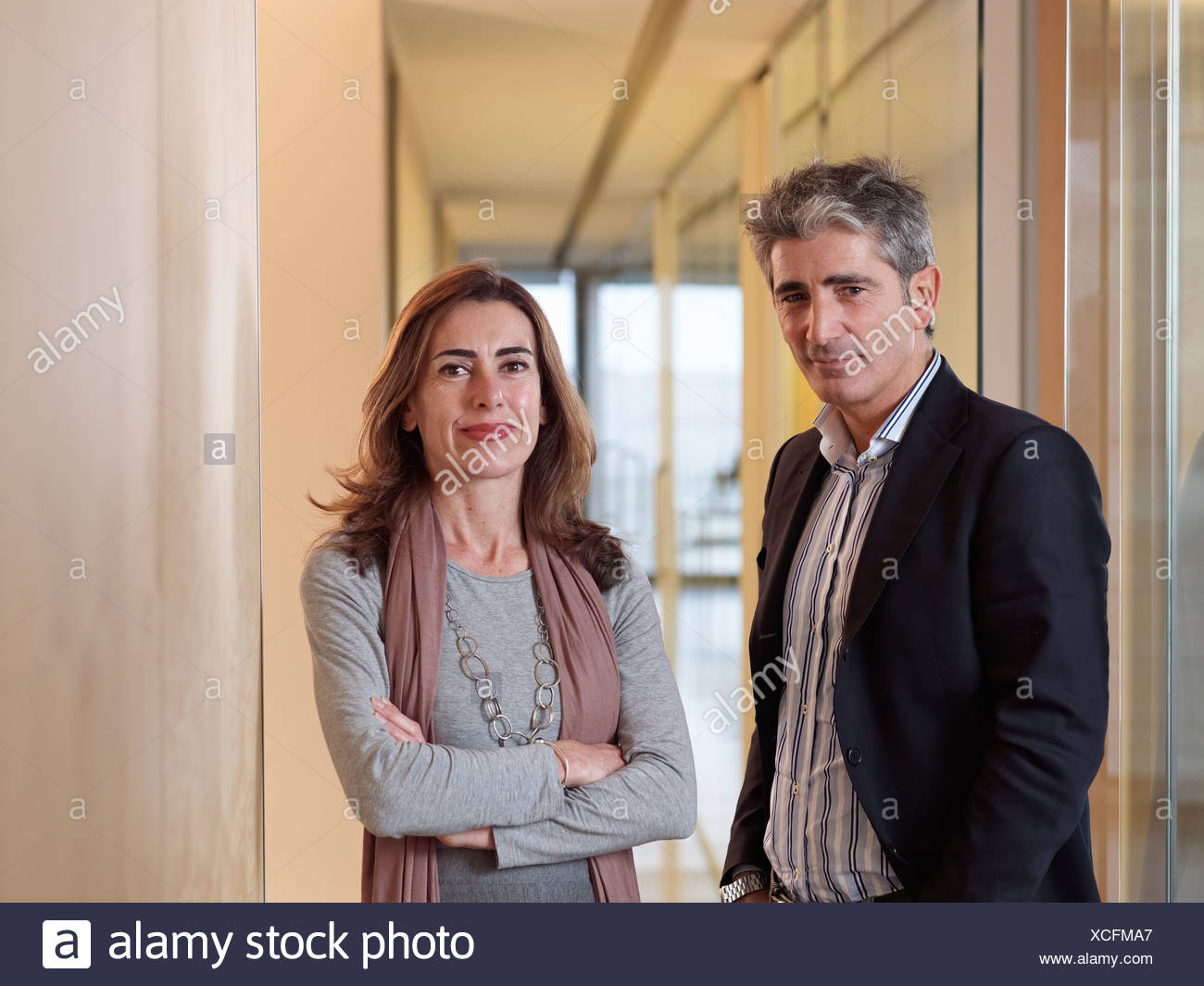 Portrait of two individuals - Stock Image
