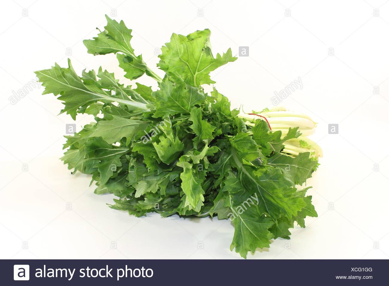 turnip greens Stock Photo