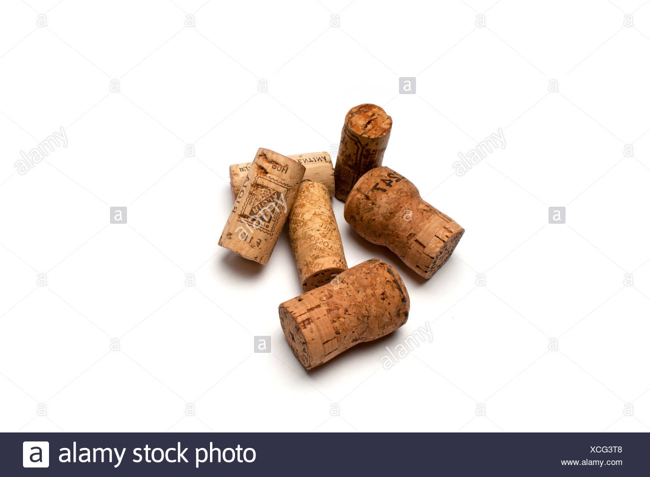 Wine and champagne corks - Stock Image