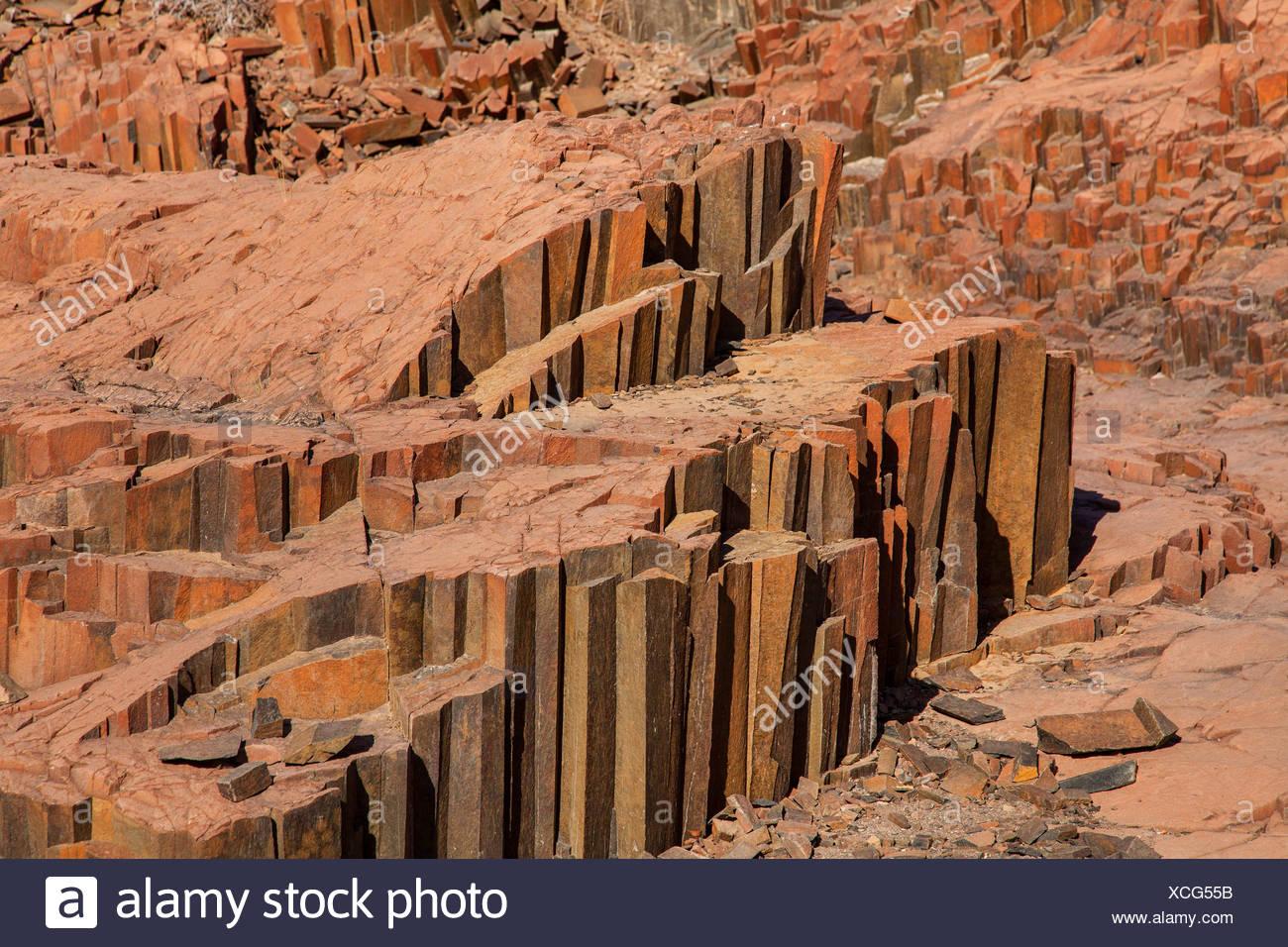 organ pipes, columnar basalt, Namibia, Khorixas - Stock Image