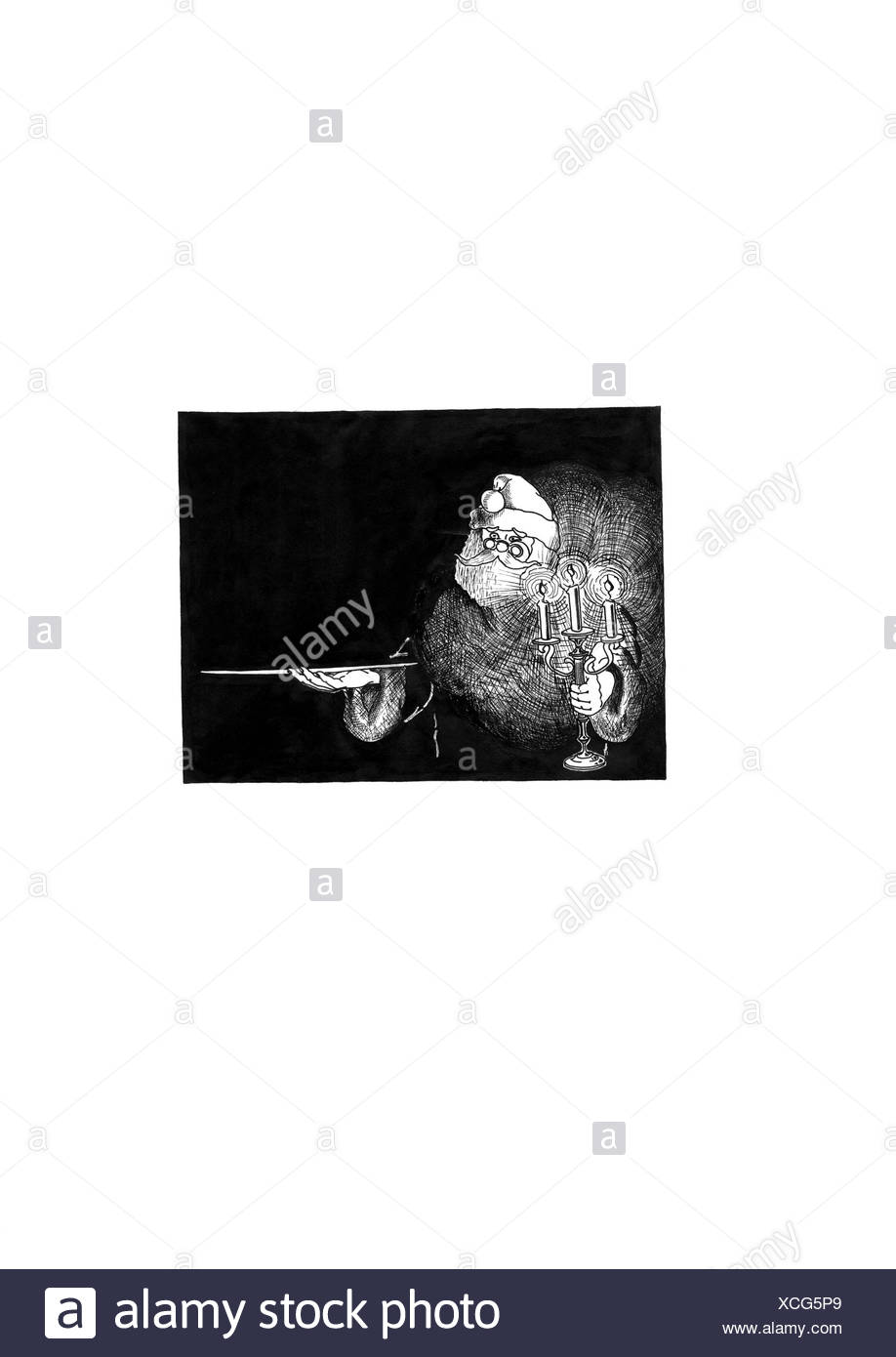 Nicholas with candlestick - Stock Image