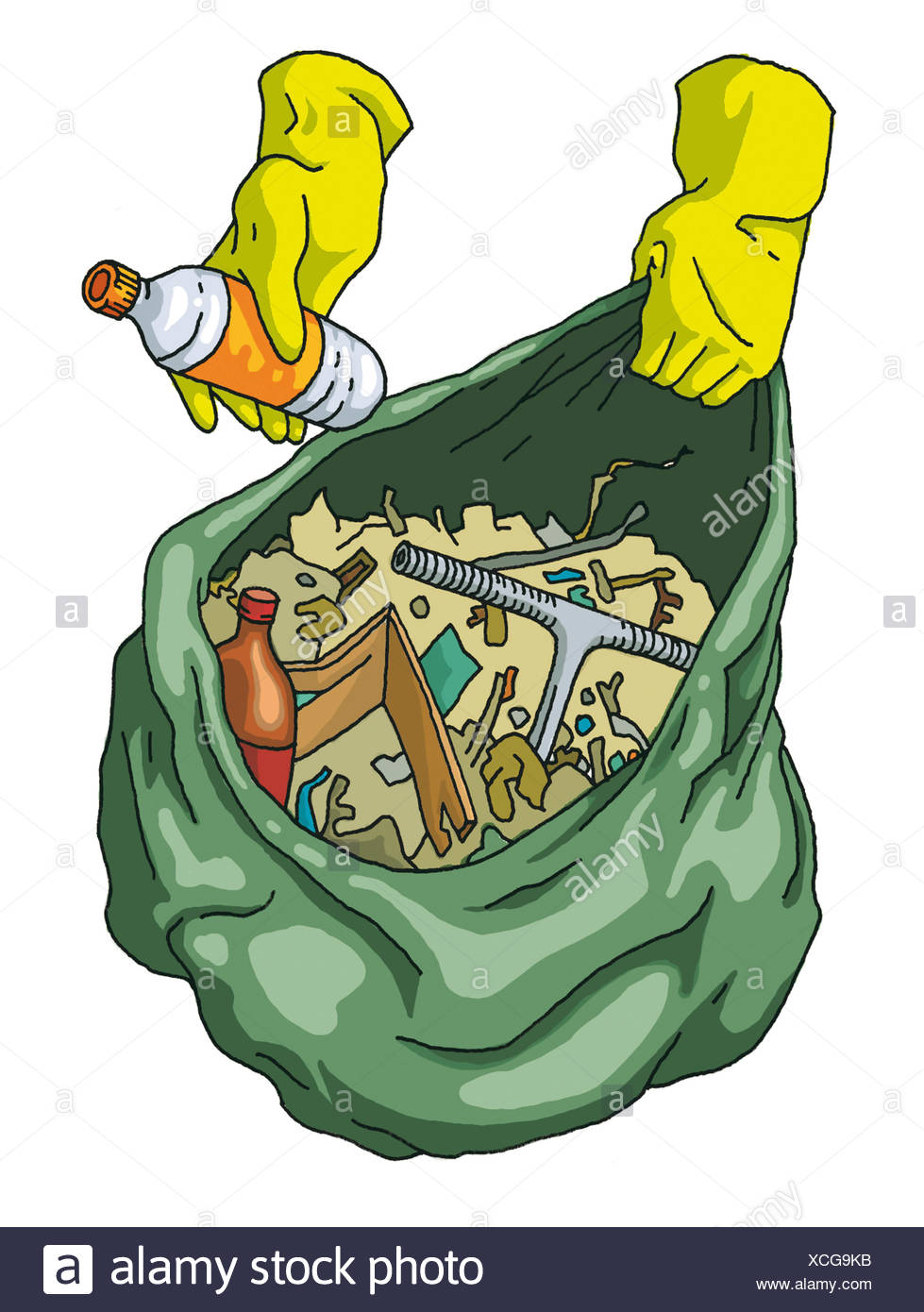 REFUSE COLLECTION - Stock Image