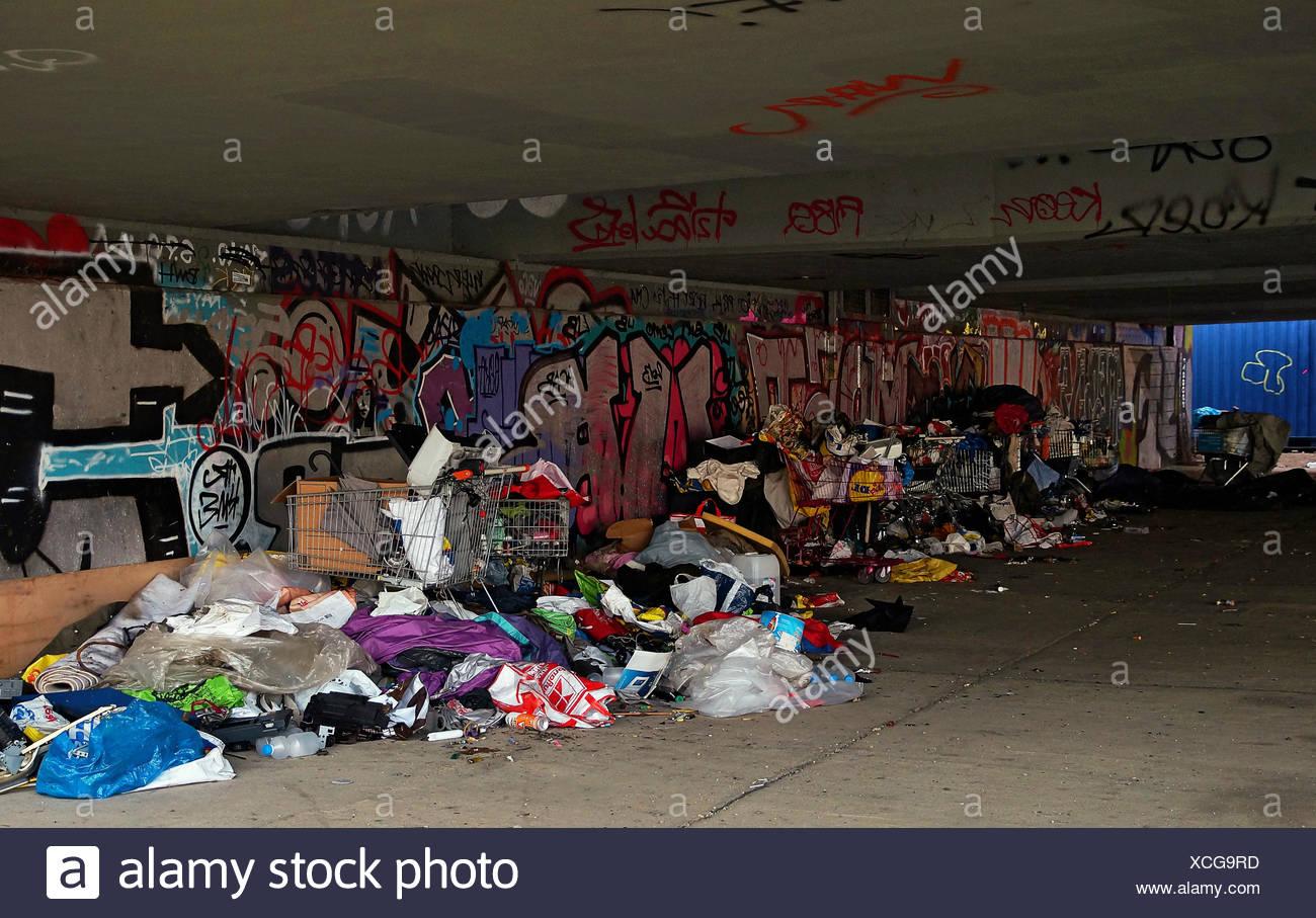 Illegal Garbage Disposal Stock Photo