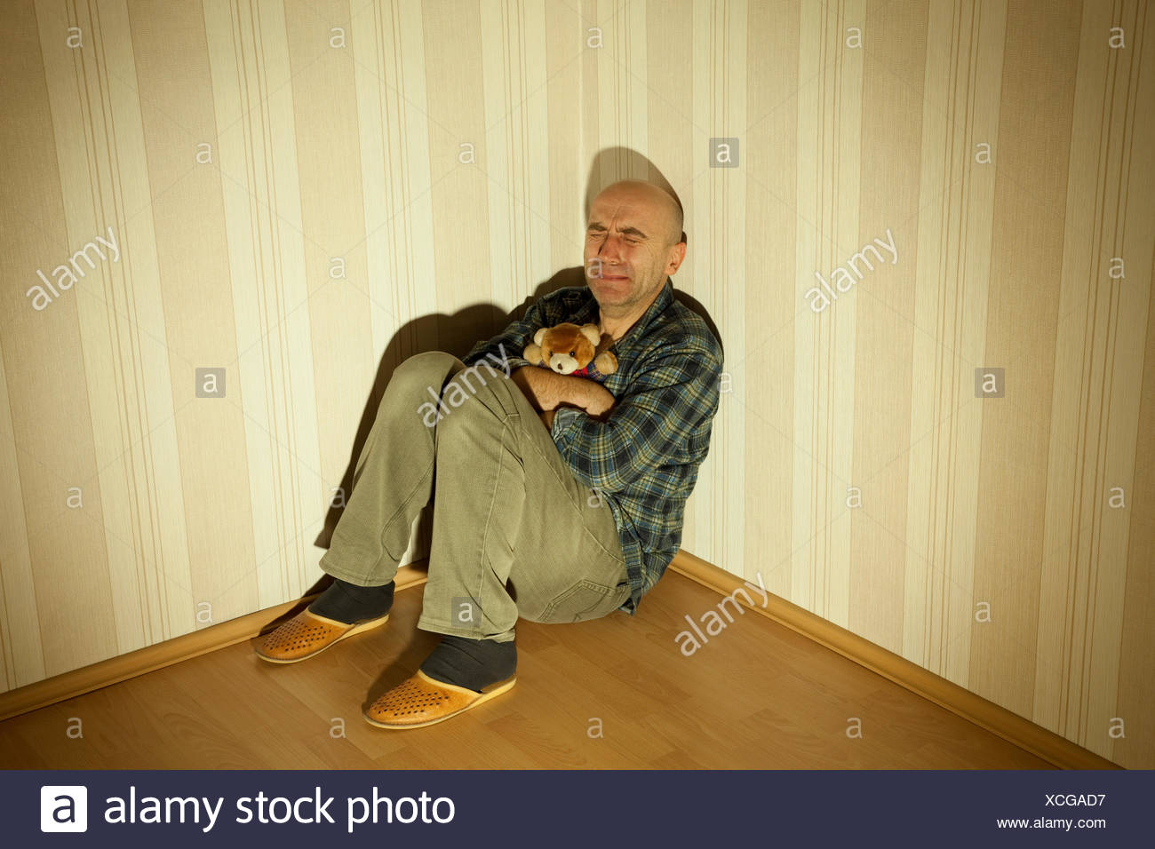 room depression thoughtful Stock Photo