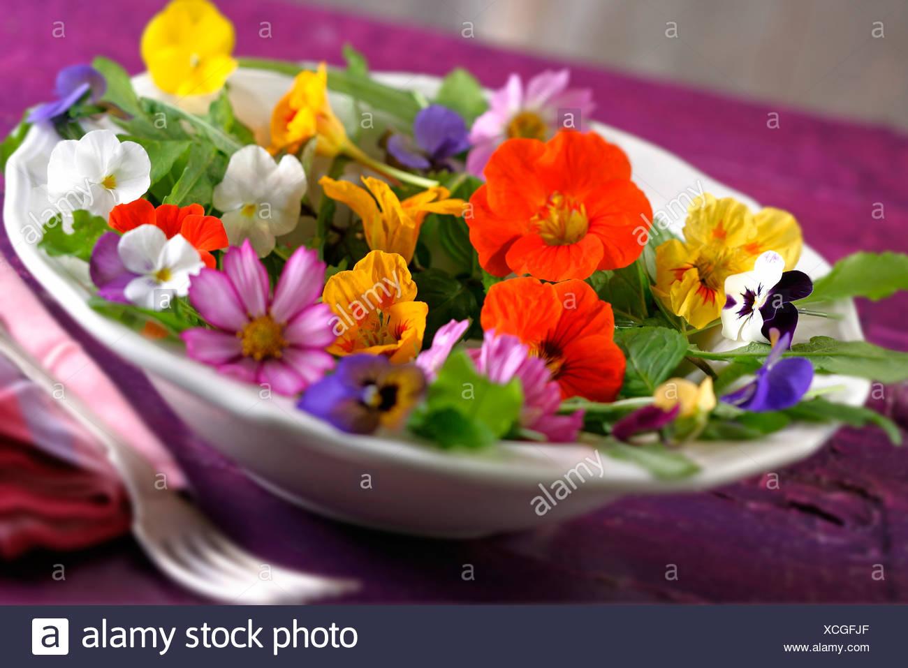 Edible Flower Arrangement Stock Photos & Edible Flower Arrangement ...