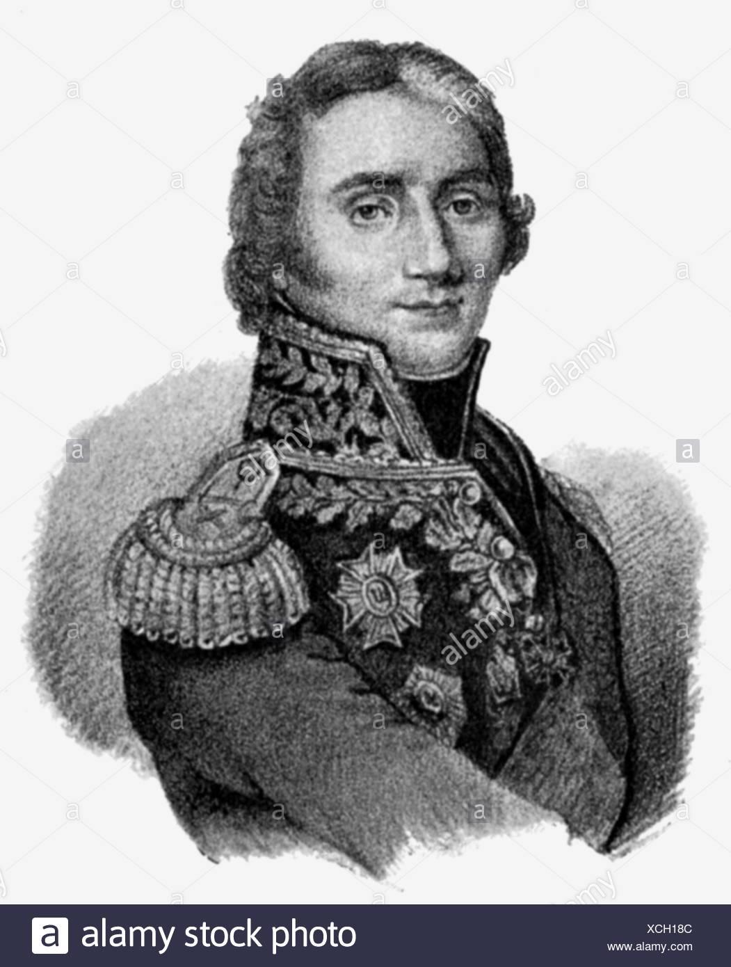 Masséna, André, 6.5.1756 - 14.4.1817, French general, portrait, lithograph, 19th century, , Stock Photo