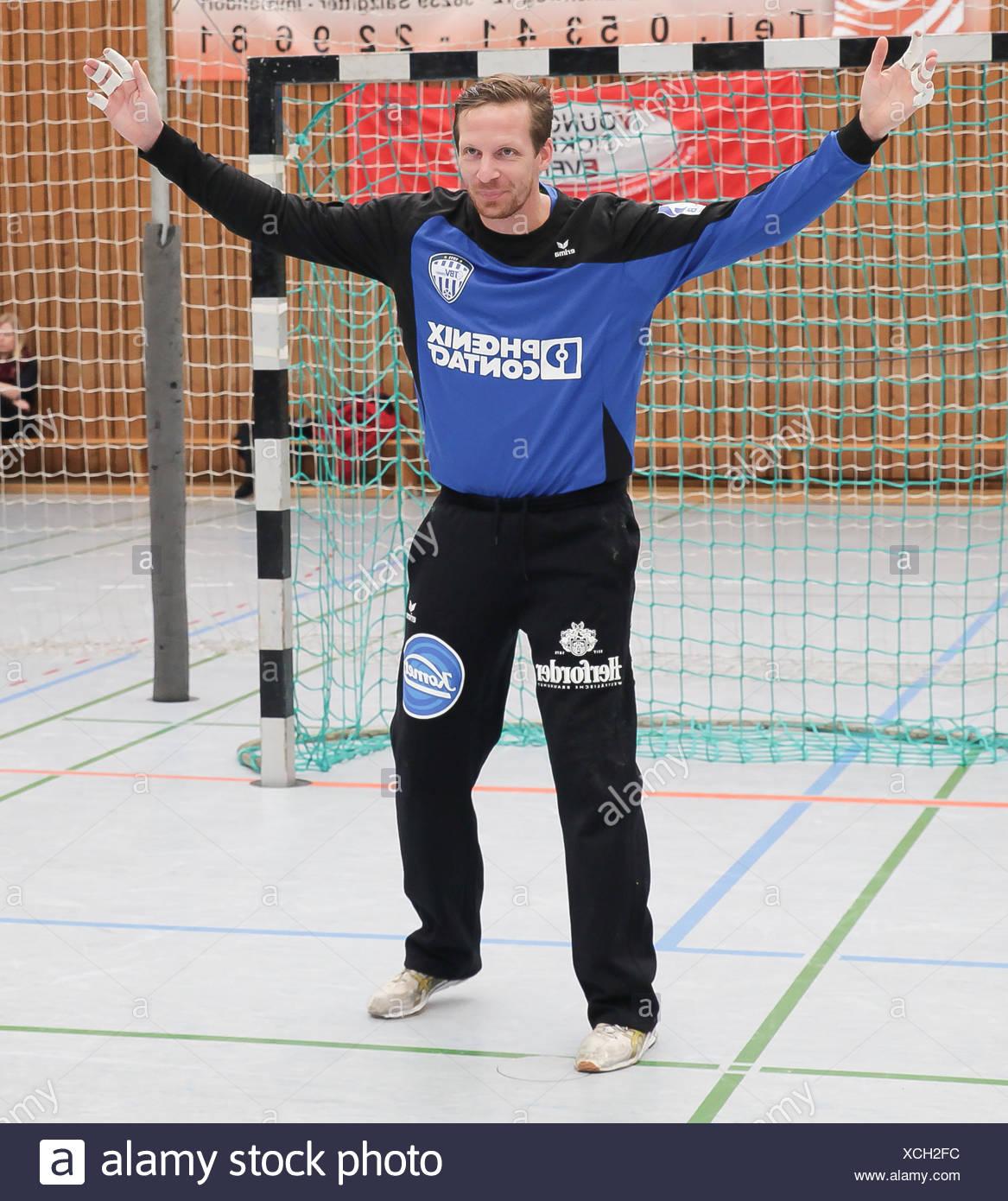 Goalkeeper Dan Beutler (TBV Lemgo) - Stock Image