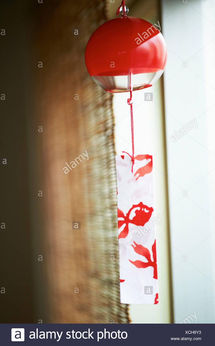 Traditional Japanese wind chime - Stock Image