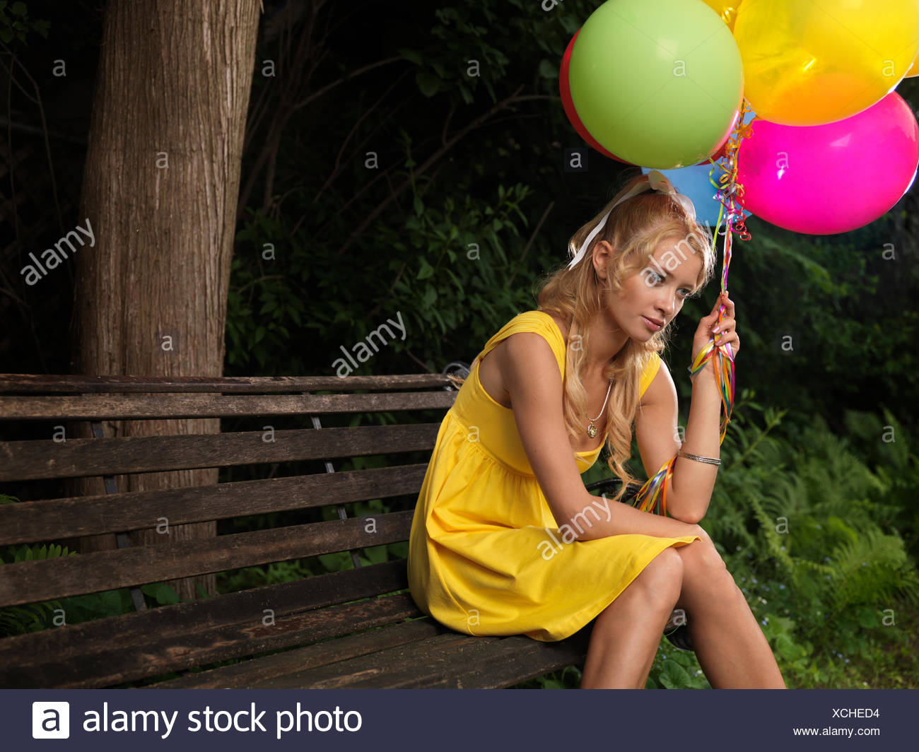 Woman And Sad And Bench Stock Photos Amp Woman And Sad And