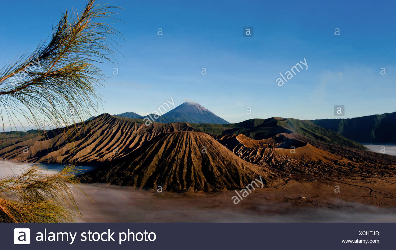 indonesia active volcanism - Stock Image