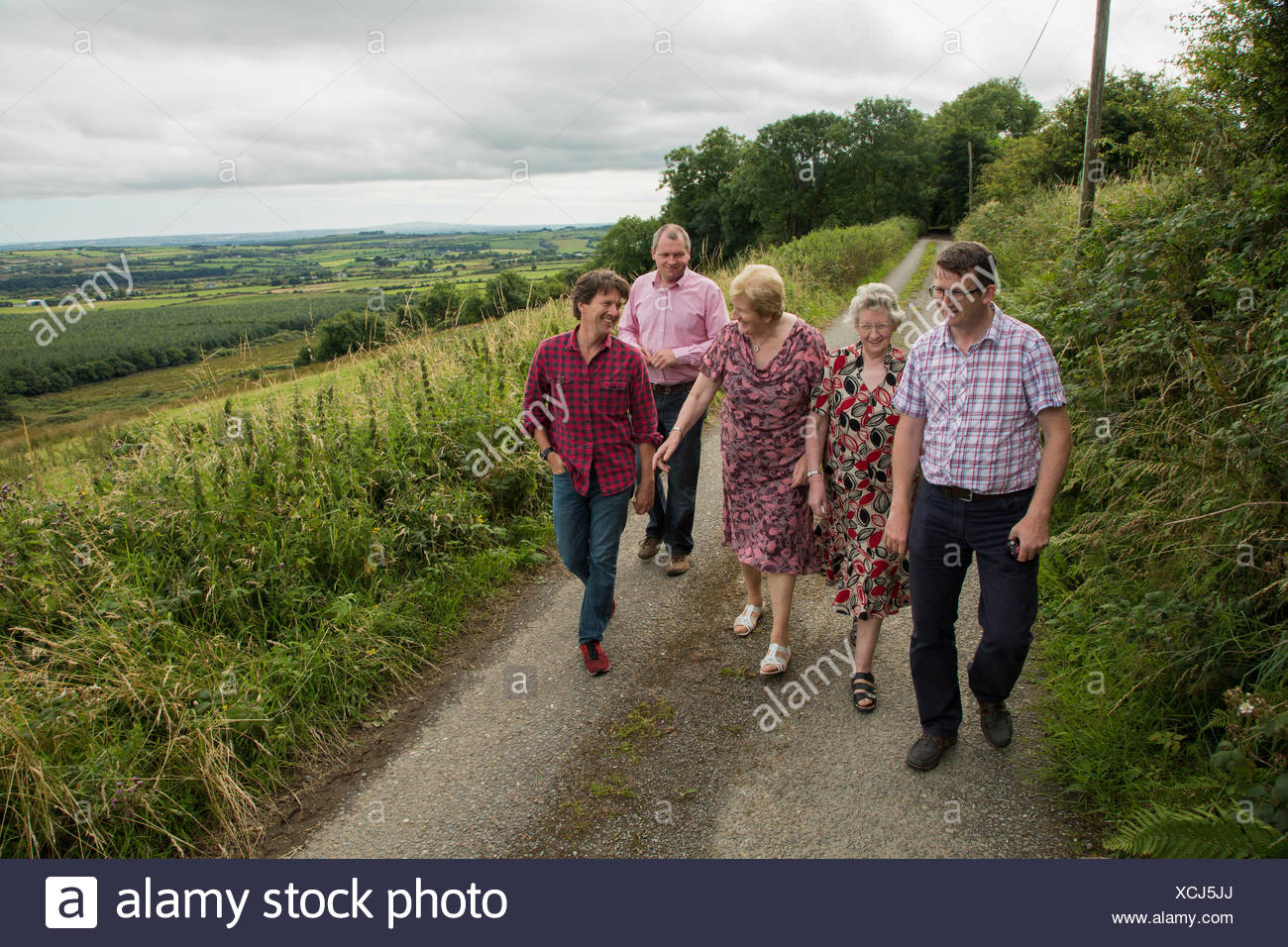 An author meets the McCarthy clan, his extended family, in County Kerry, Ireland. - Stock Image