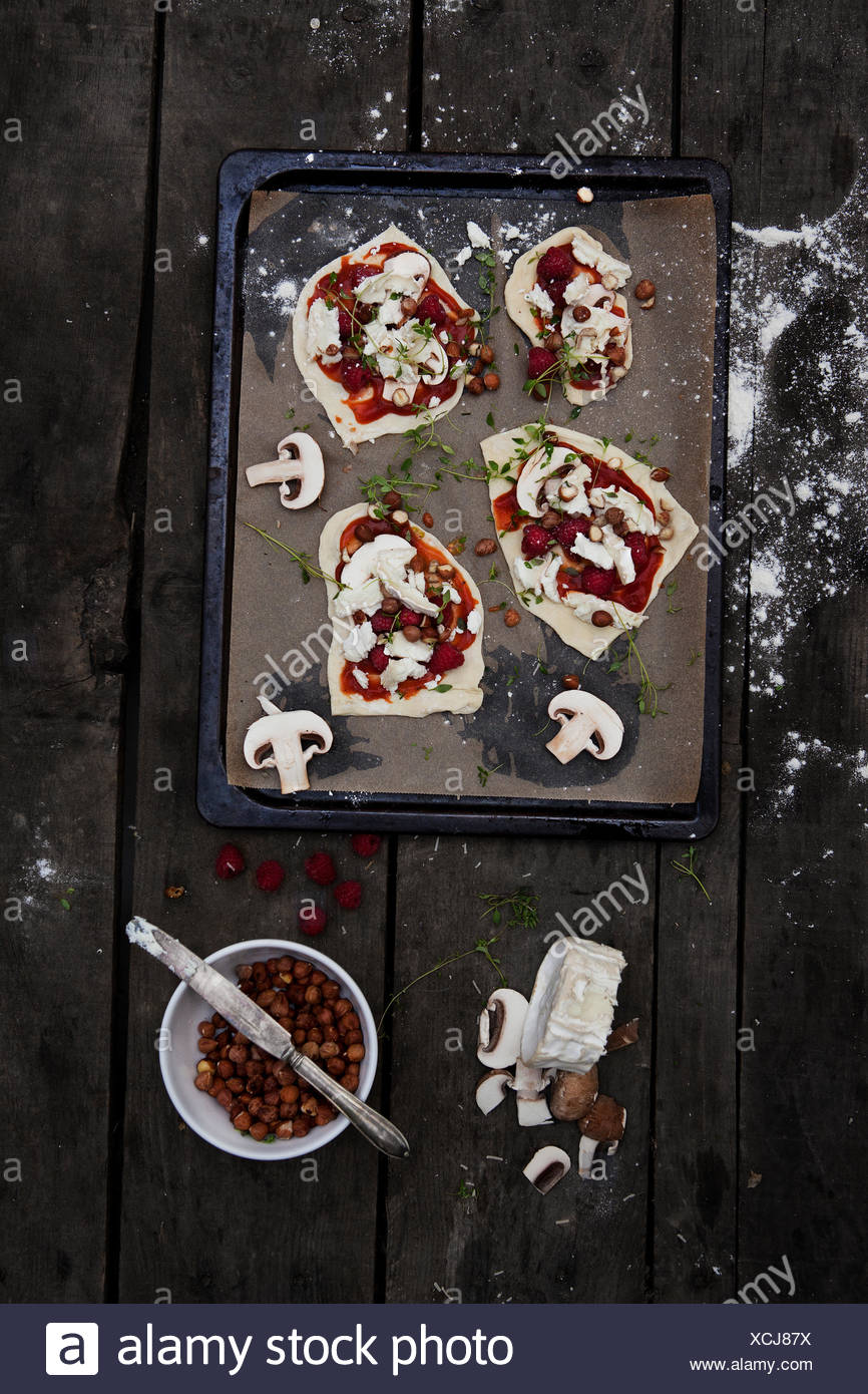 Pizza's preparation - Stock Image