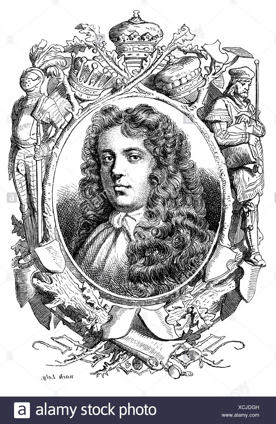 Scott, James, 1st Duke of Monmouth, 9.4.1649 - 5.7.1685, English general and politician, 19th century, Additional-Rights-Clearances-NA - Stock Image