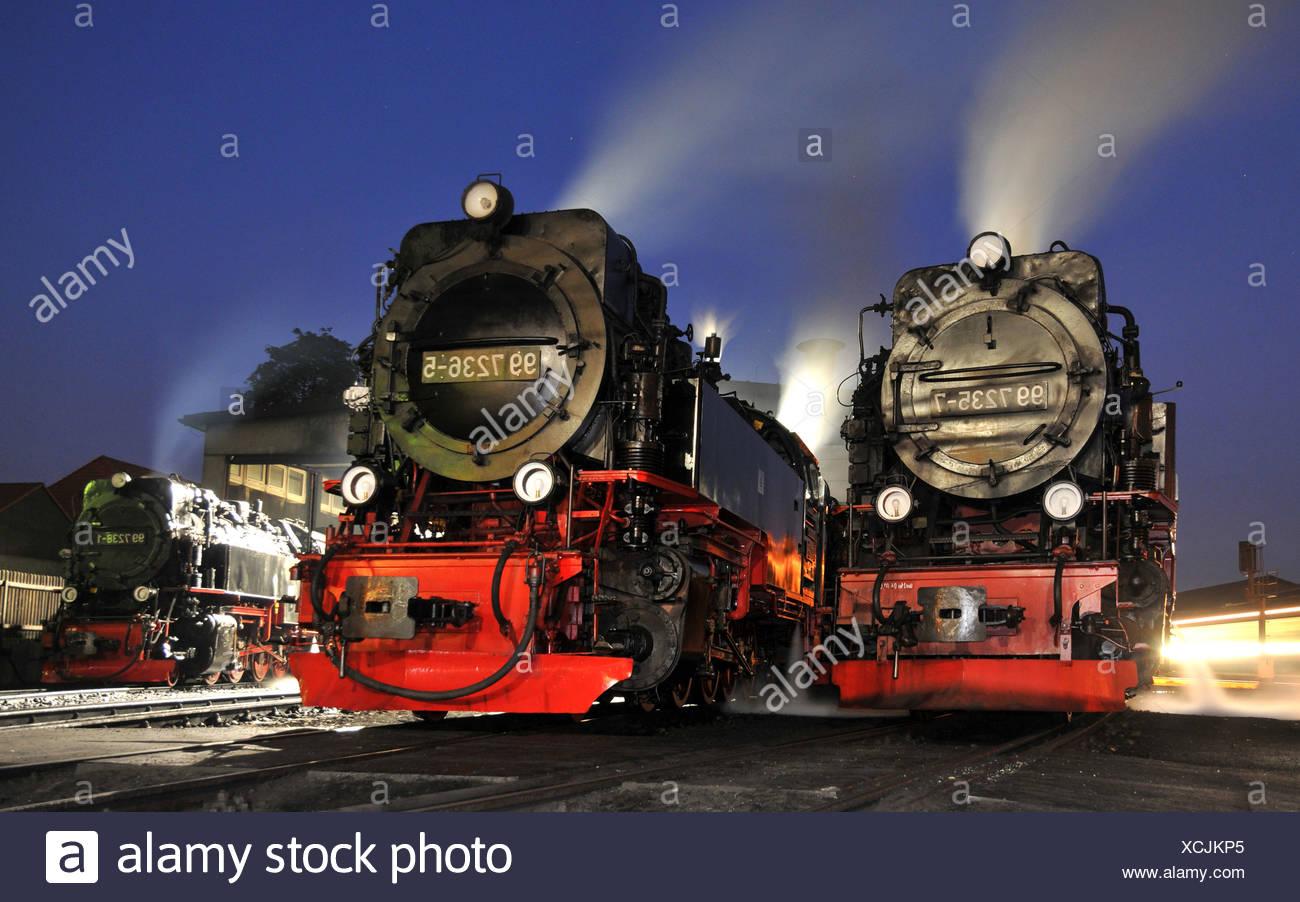steam locomotives - Stock Image