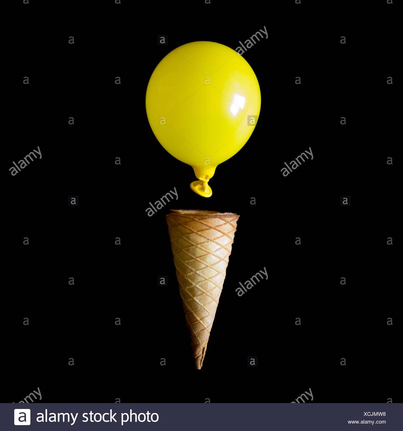 Conceptual Ice Cream Cone - Stock Image