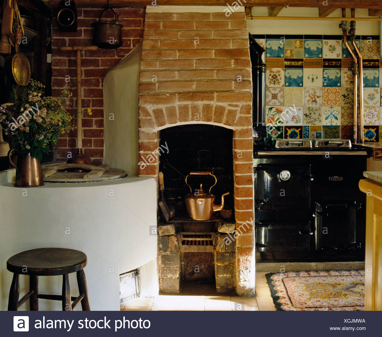 Victorian Kitchen Range Stock Photos & Victorian Kitchen