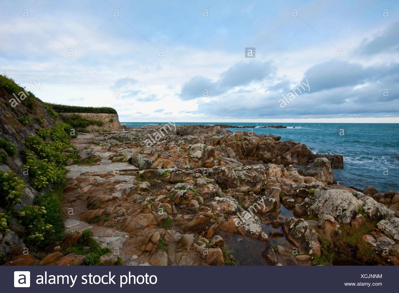 Atlantic coast near Le Croisic, Loire-Atlantique, Pays de la Loire, France Stock Photo