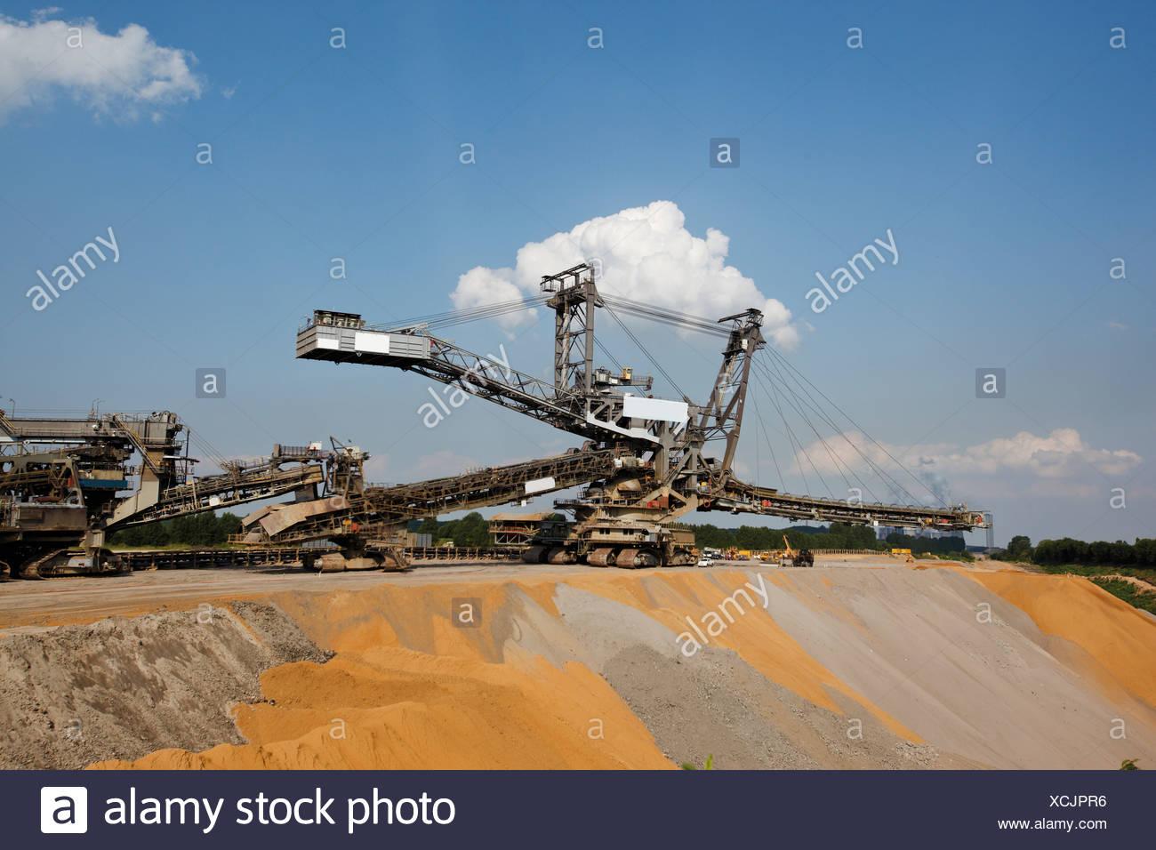 Germany, North Rhine-Westphalia, Glesch, Brown coal surface mining Stock Photo