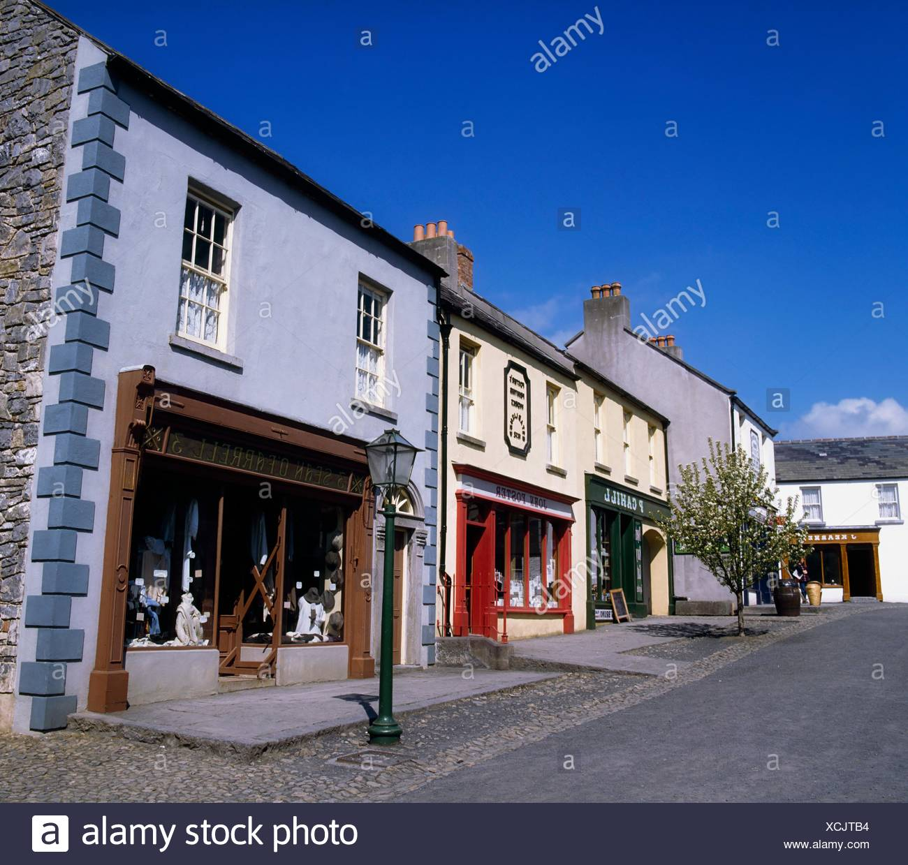 Bunratty Castle And Folk Park, Co Clare, Ireland; Folk Park Recreating 19Th Century Life - Stock Image