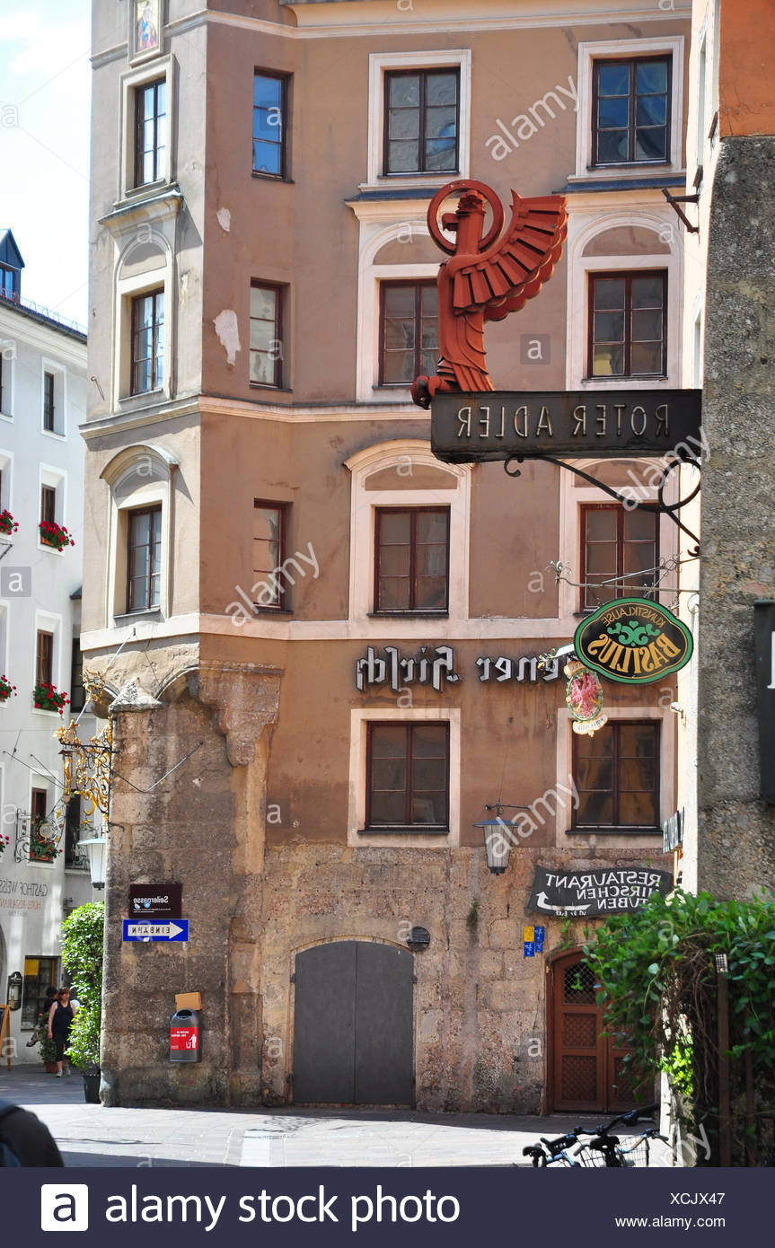 Österreich, Tirol, Innsbruck, Stadtmitte, Altstadt, Fassade, - Stock Image
