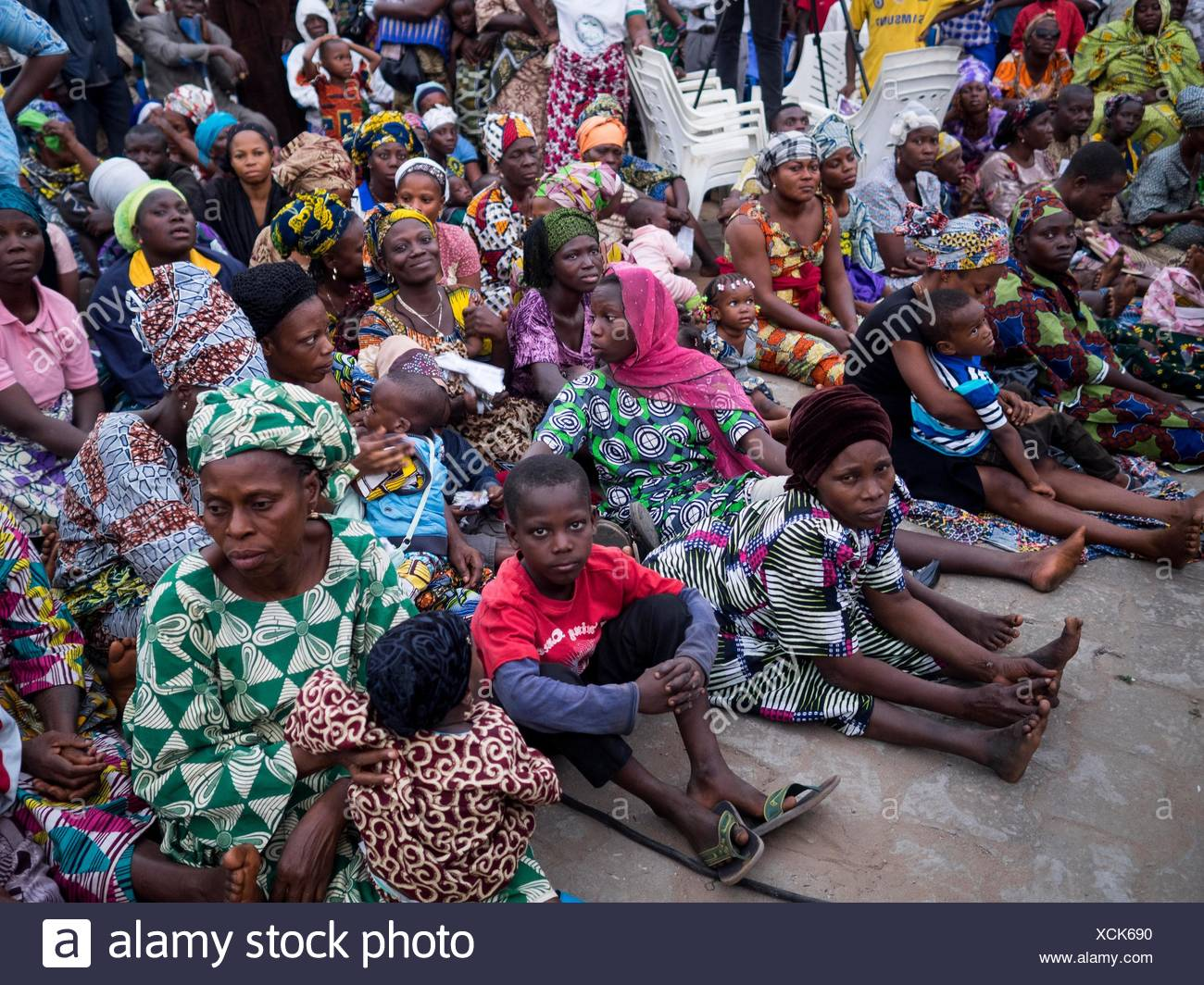 People with sick relatives attending Ladonna Osborn Christian Faith Healer show. - Stock Image