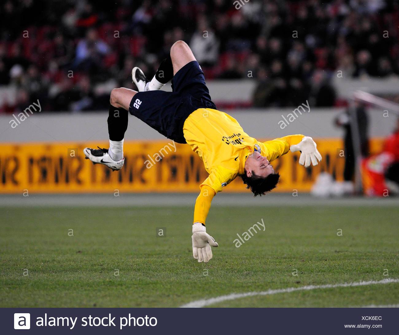 Goalkeeper Vasili KHAMUTOUSKI FC Carl Zeiss Jena Germany - Stock Image