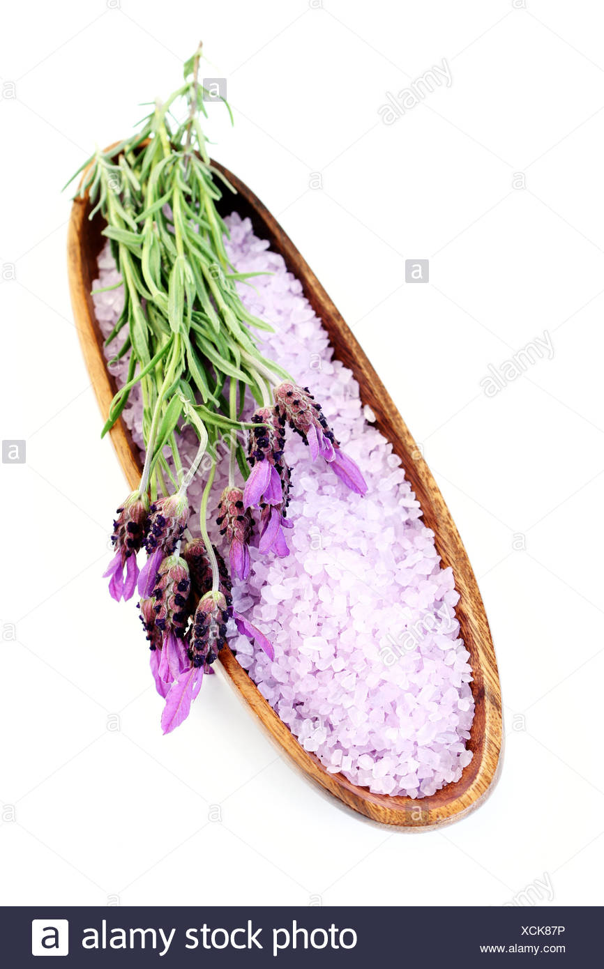 bath,lavender,bath salt - Stock Image