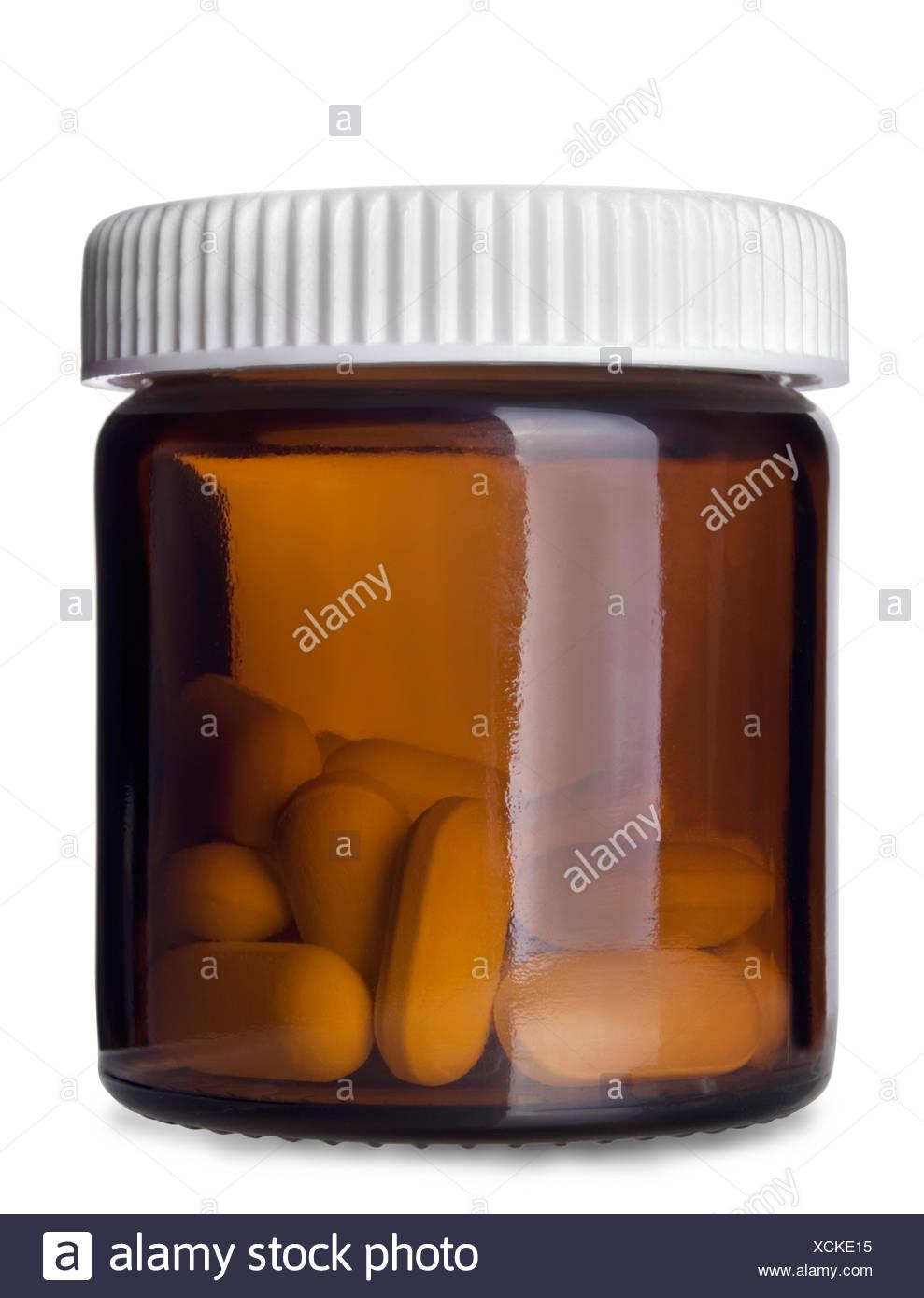 Pills bottle - Stock Image