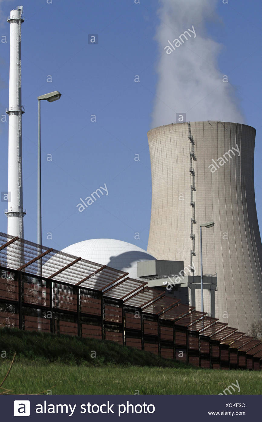environment, enviroment, nuclear power station, atomic energy, nuclear energy, - Stock Image