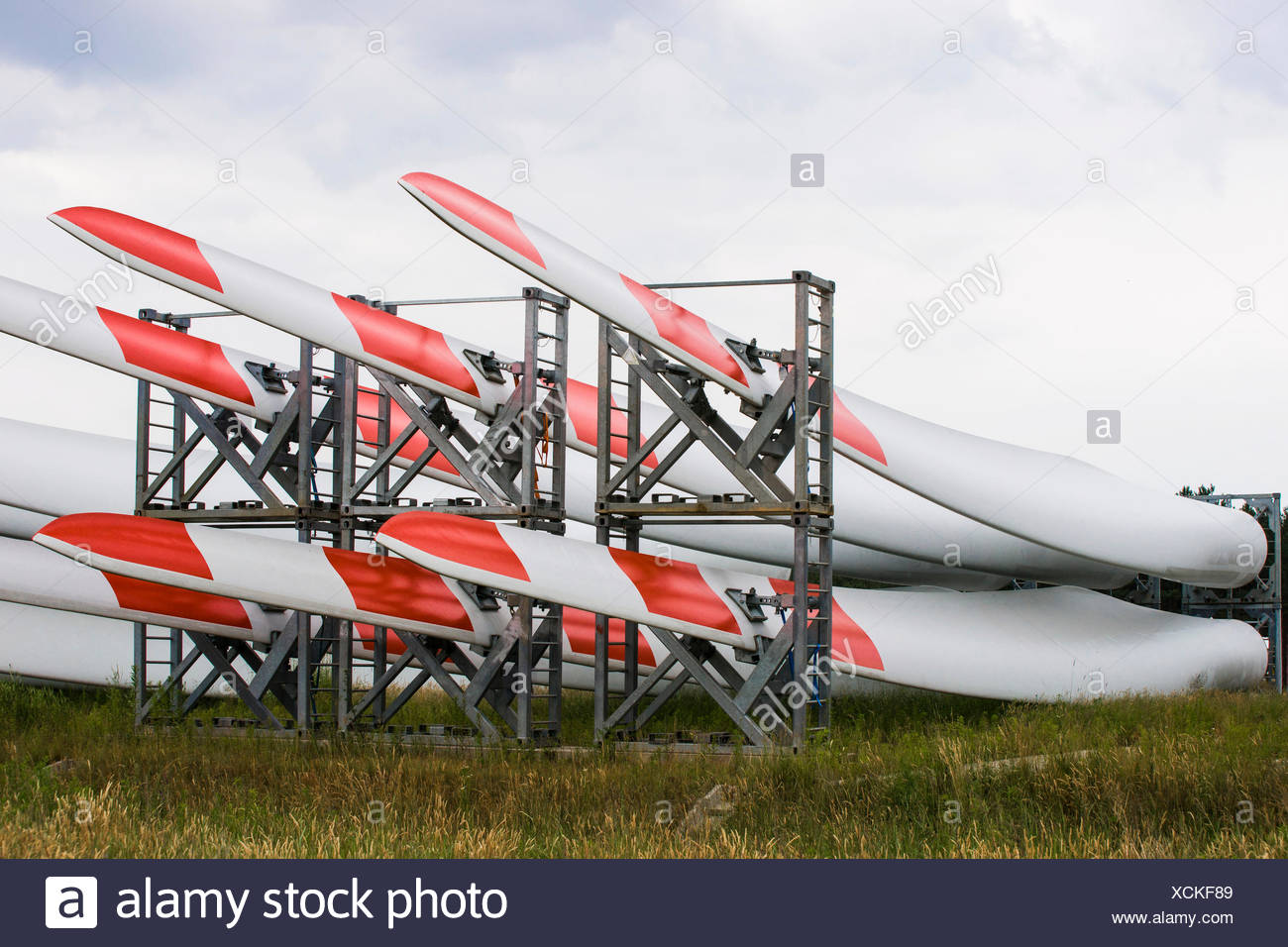 Blade Yard, storage for rotor blades of wind turbines, of