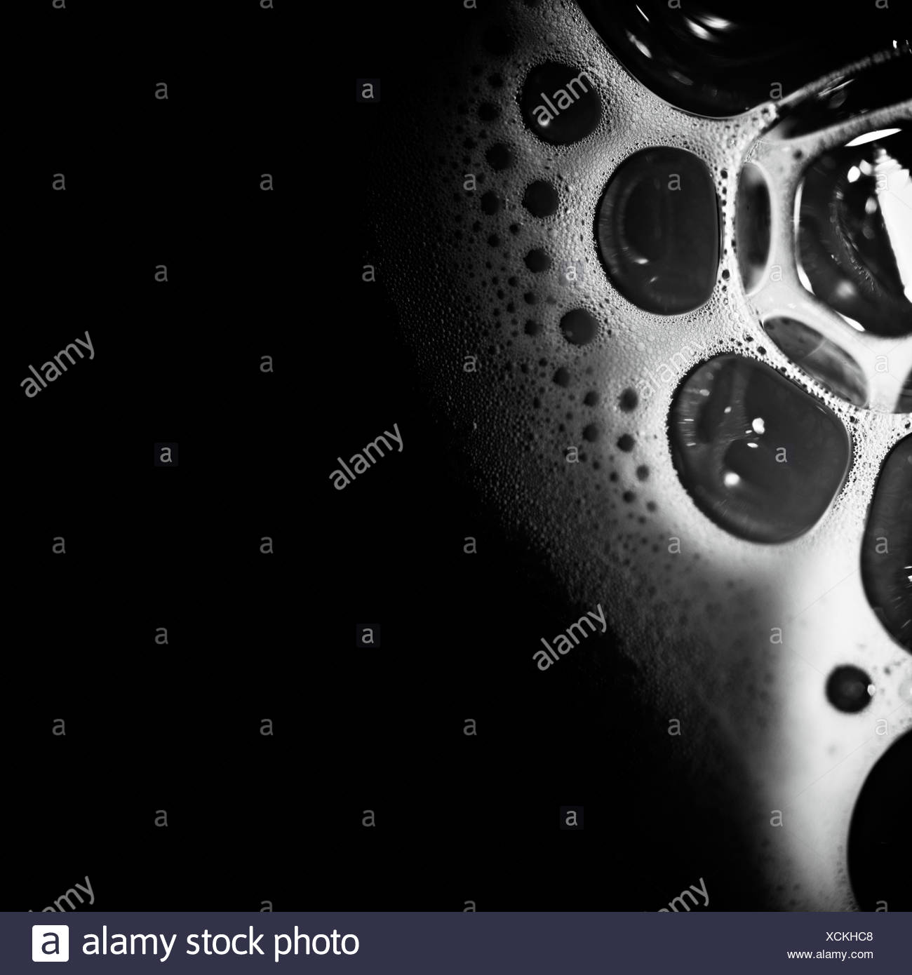 Spume in dark. Abstract background. - Stock Image