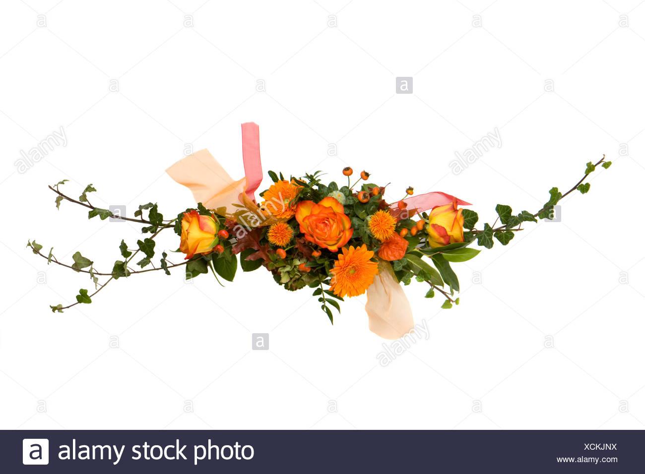 schönen Blumenstrauß isoliert auf Weiß - Stock Image