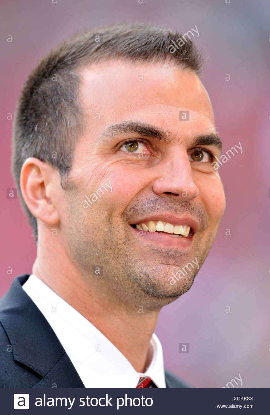 Markus Babbel, manager and coach of VfB Stuttgart, looking friendly Stock Photo