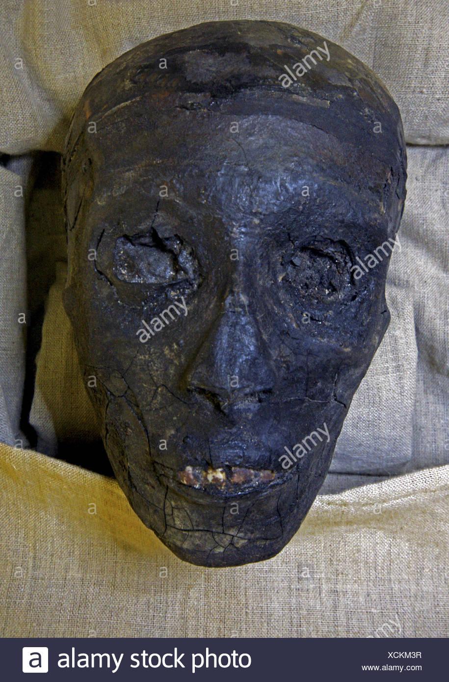 Kings Valley:tumb of Tut Ank Amon.Mummy of Tut Ank Amon. Luxor west bank. Egypt - Stock Image
