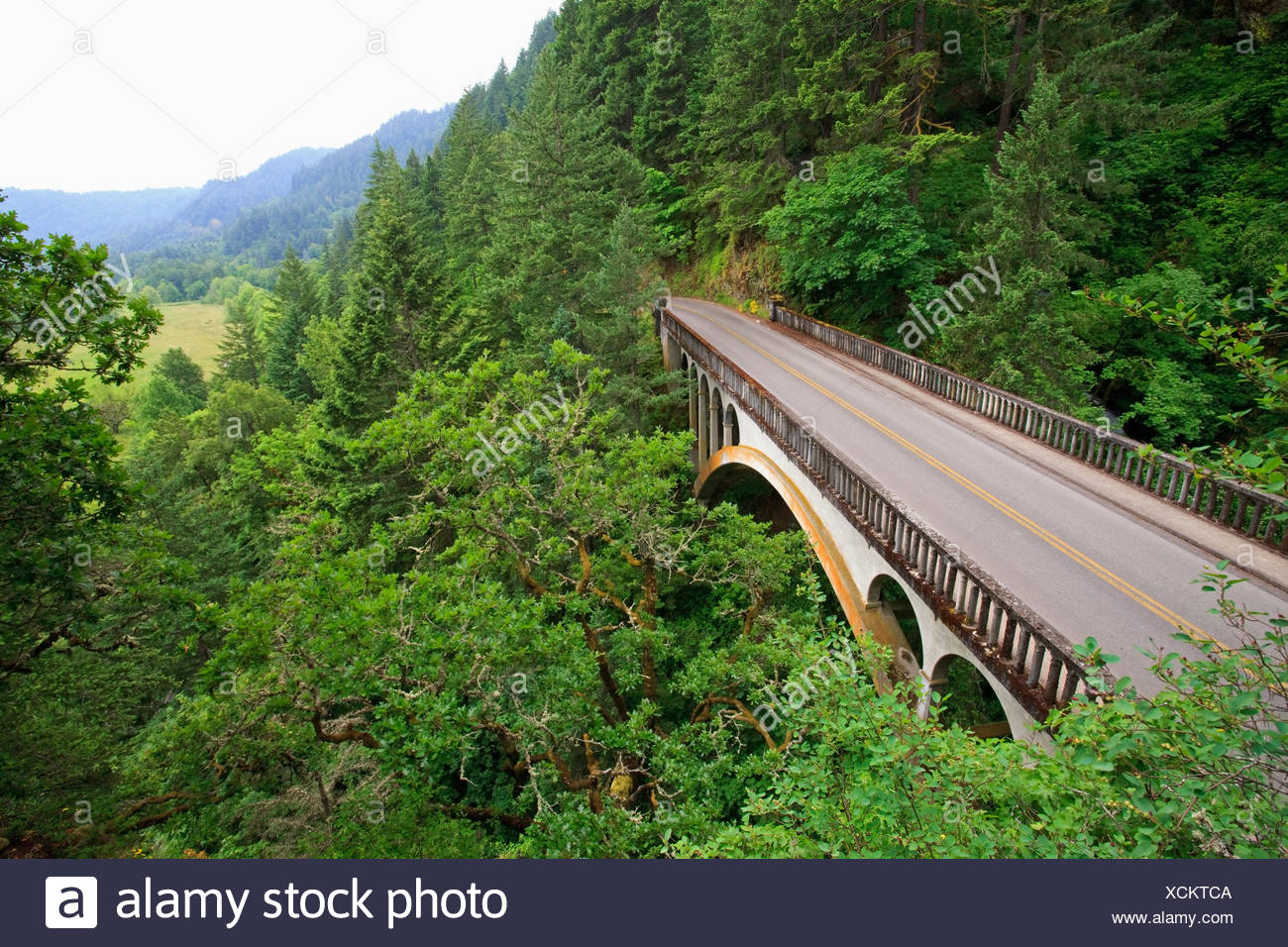 Oregon United States Of America Old Scenic Highway In