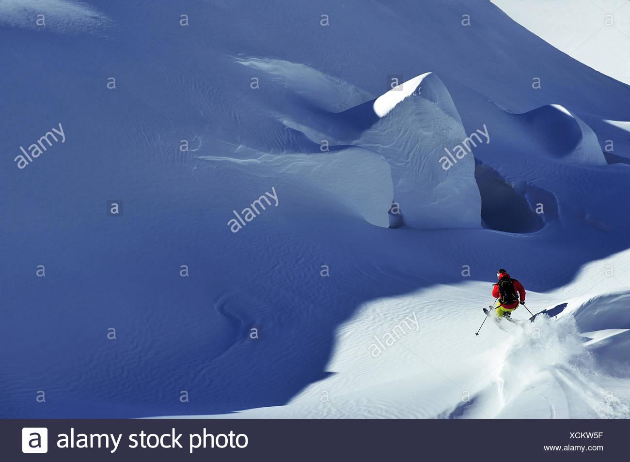 Off piste bei Courchevel, France, Savoie - Stock Image
