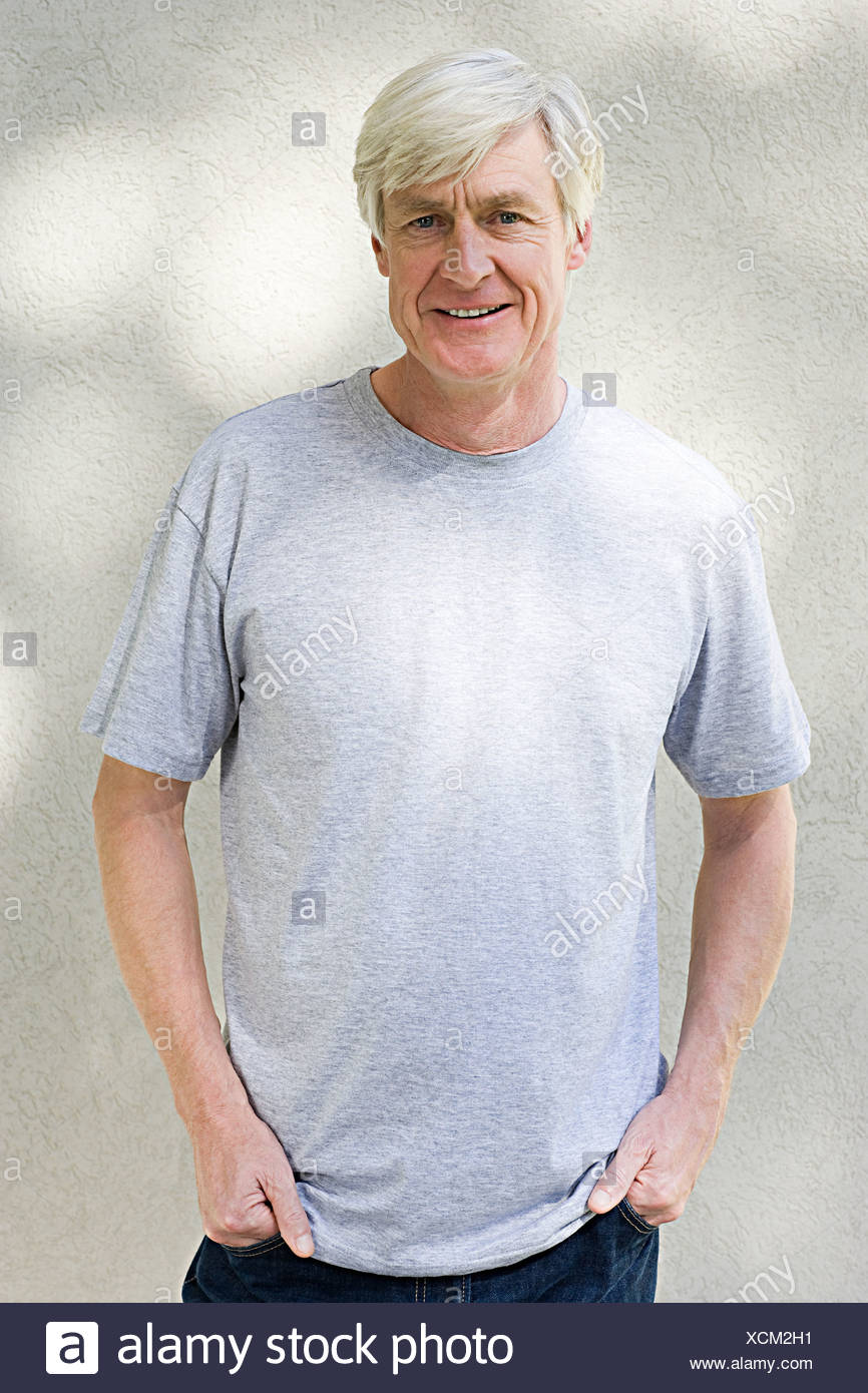 Portrait of middle aged man - Stock Image