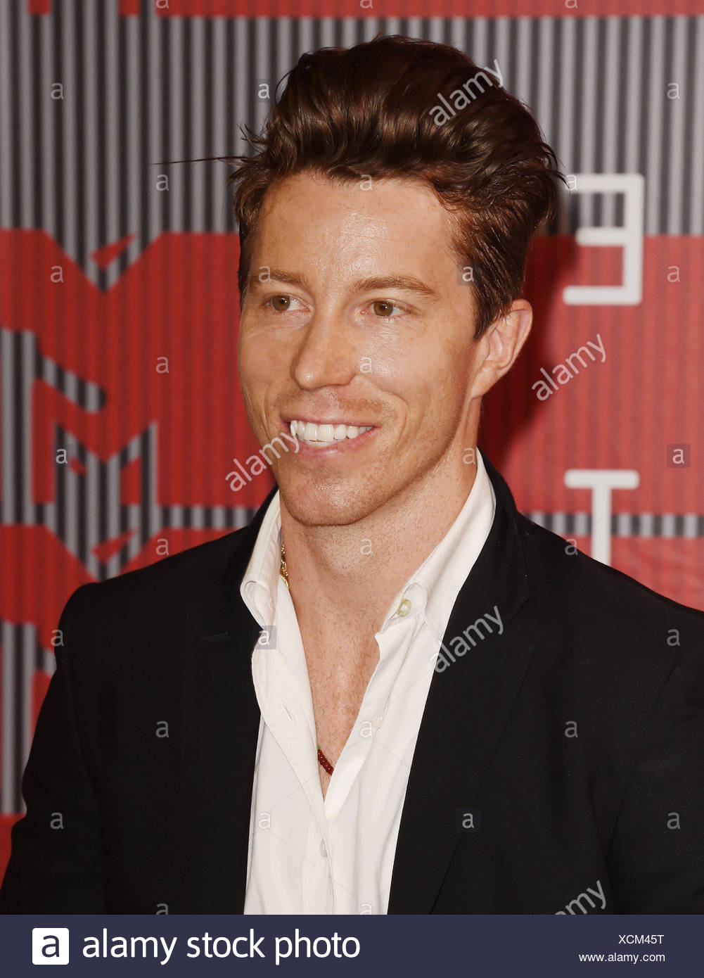 Professional snowboarder Shaun White arrives at the 2015 MTV Video Music Awards at Microsoft Theater on August 30, 2015 in Los Angeles, California., Additional-Rights-Clearances-NA - Stock Image