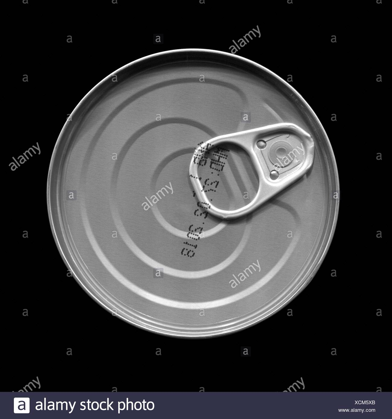 tin can with pull tab - Stock Image