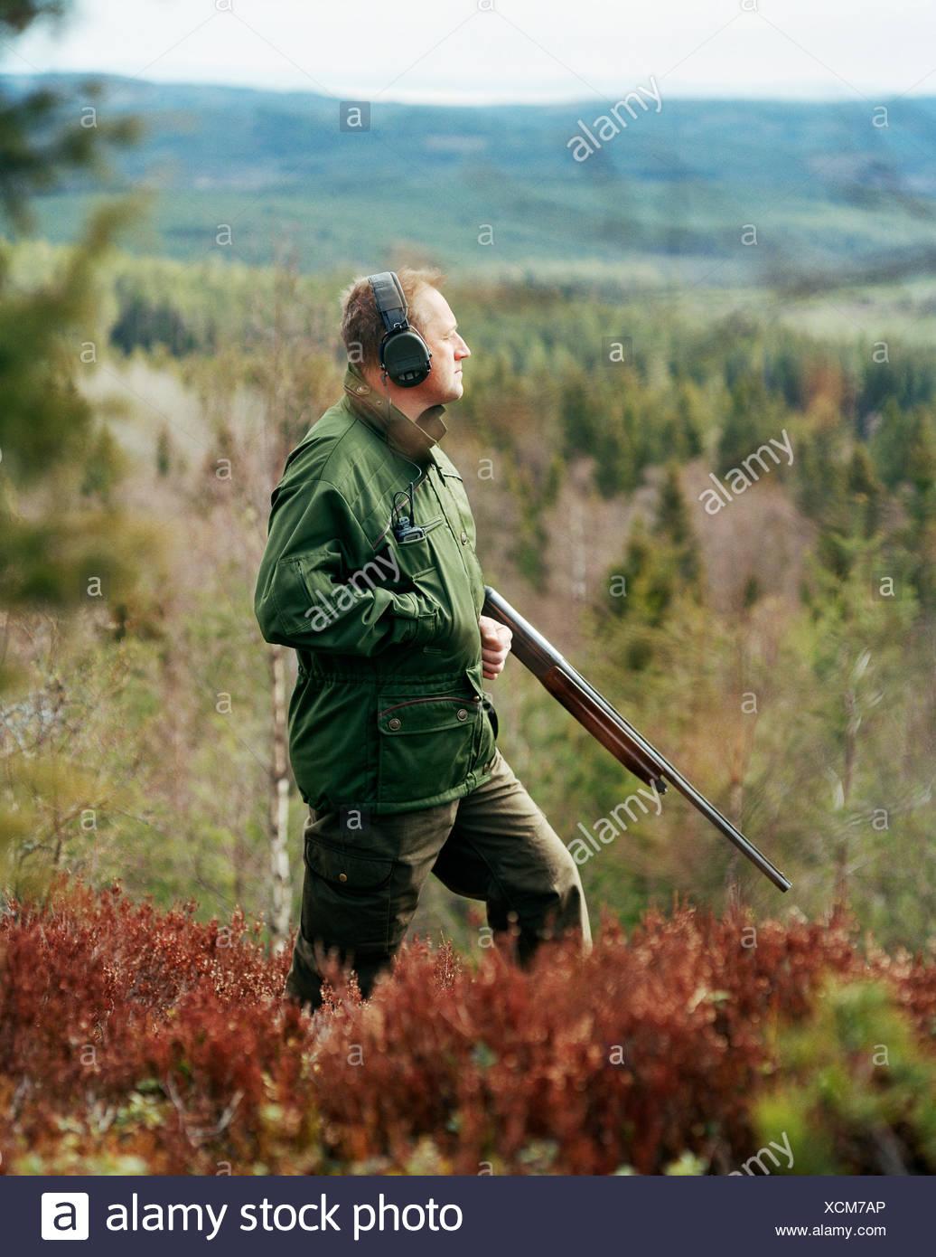 A hunter, Dalarna, Sweden. - Stock Image
